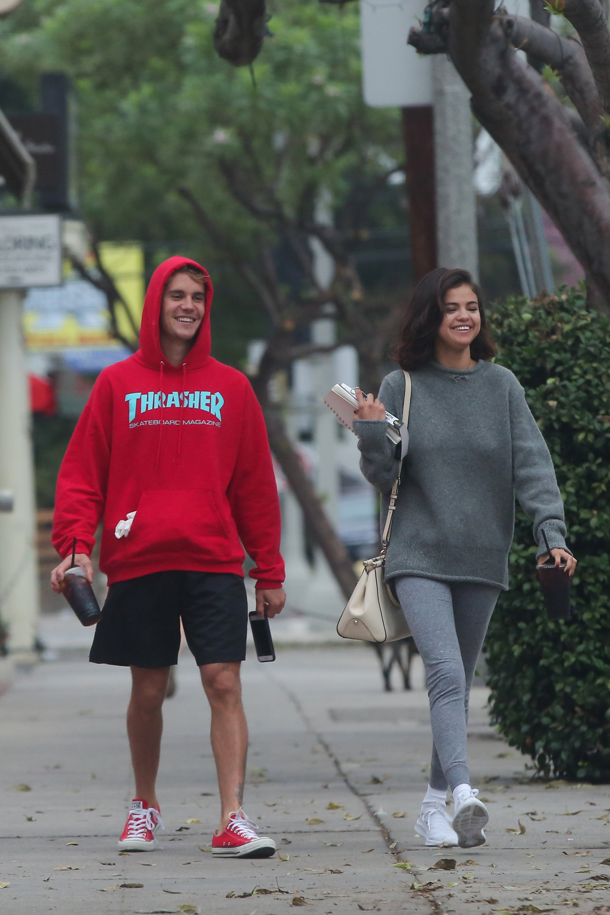 PREMIUM RATES APPLY, Los Angeles, CA - 11/1/2017 -Justin Bieber and Selena Gomez hanging out together Gomez was dumped several weeks ago by The Weeknd.  -PICTURED: Justin Bieber, Selena Gomez -, Image: 354395483, License: Rights-managed, Restrictions: PREMIUM RATES APPLY, Model Release: no, Credit line: Profimedia, INSTAR Images