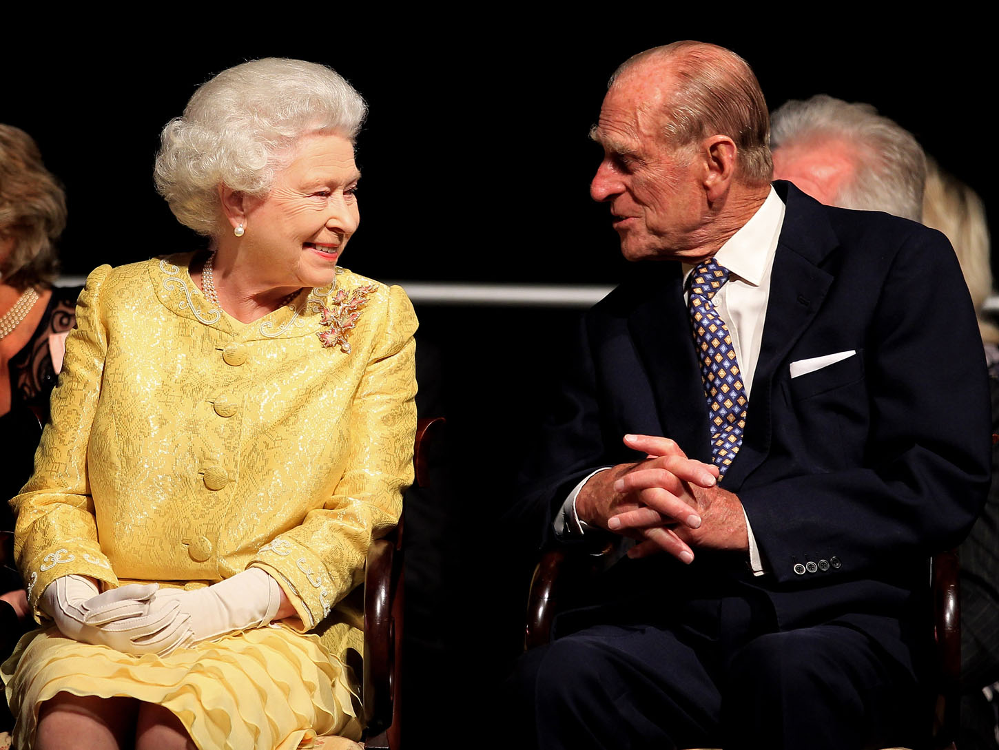 HALIFAX, NS - JUNE 29:  Queen Elizabeth II and Prince Philip, Duke of Edinburgh attend a reception for