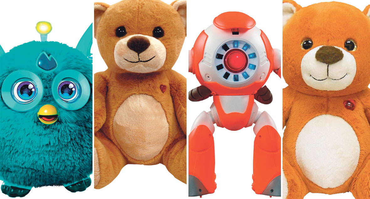 Furby Connect, Toy-Fi Teddy, i-Que Intelligent Robot Cloud pet