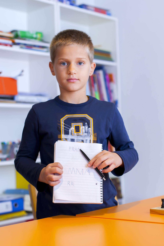 Zagreb, 201117. Raciceva 11. Djeca iz udruge Vjetar u ledja. Na fotografiji: Fran Gelo. Foto: Tomislav Kristo / CROPIX