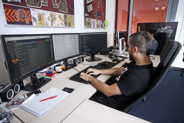 Zagreb, 121017. Binx Interactive, Horvatova ulica. Studio za izradu video igara Binx Interactive. Na fotografiji: studio. Foto: Marko Todorov / CROPIX