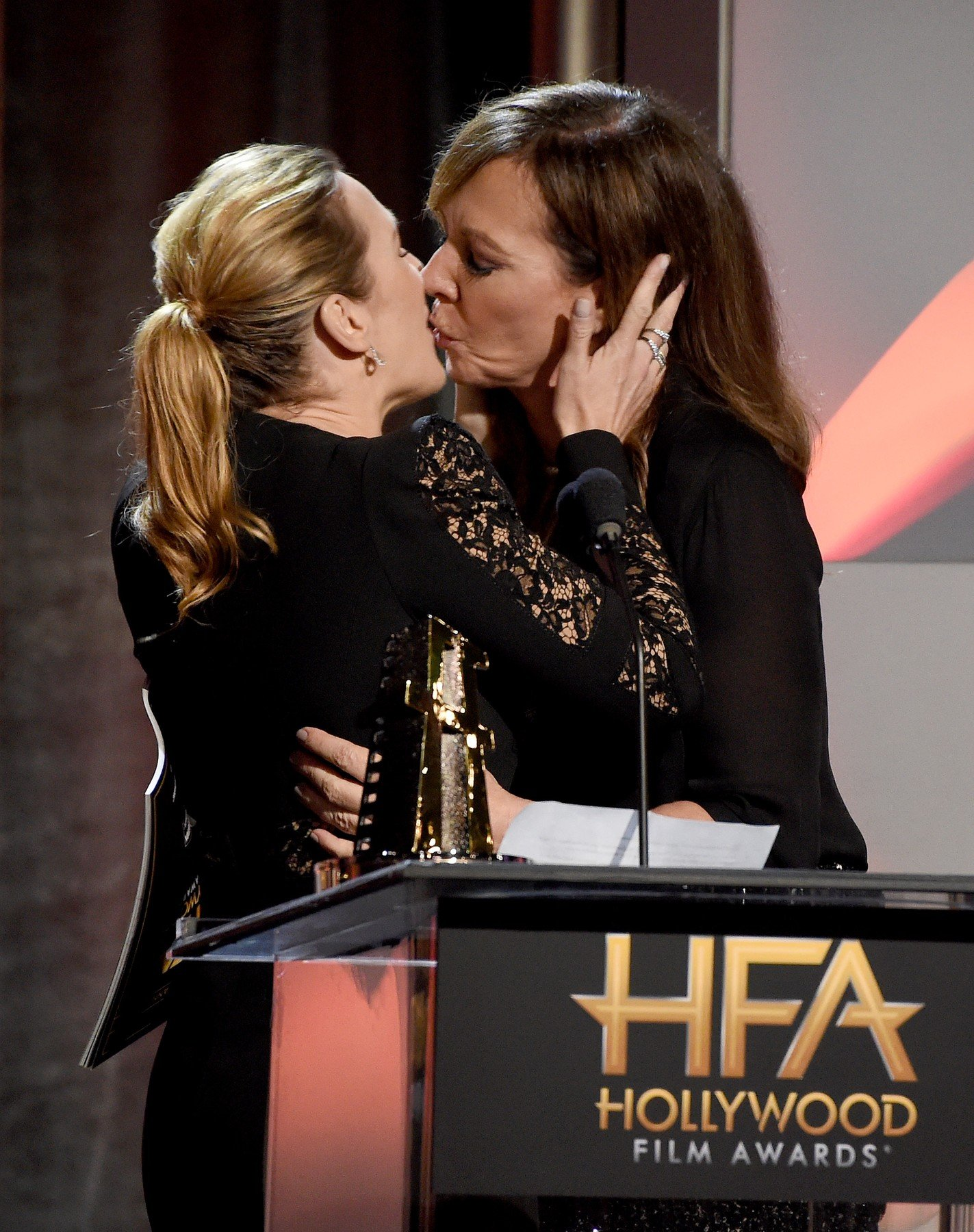 BEVERLY HILLS - NOVEMBER 5: Kate Winslet and Allison Janney at the 2017 Hollywood Film Awards at the Beverly Hilton on November 5, 2017 in Beverly Hills, California., Image: 354721182, License: Rights-managed, Restrictions: *** World Rights ***, Model Release: no, Credit line: Profimedia, SIPA USA
