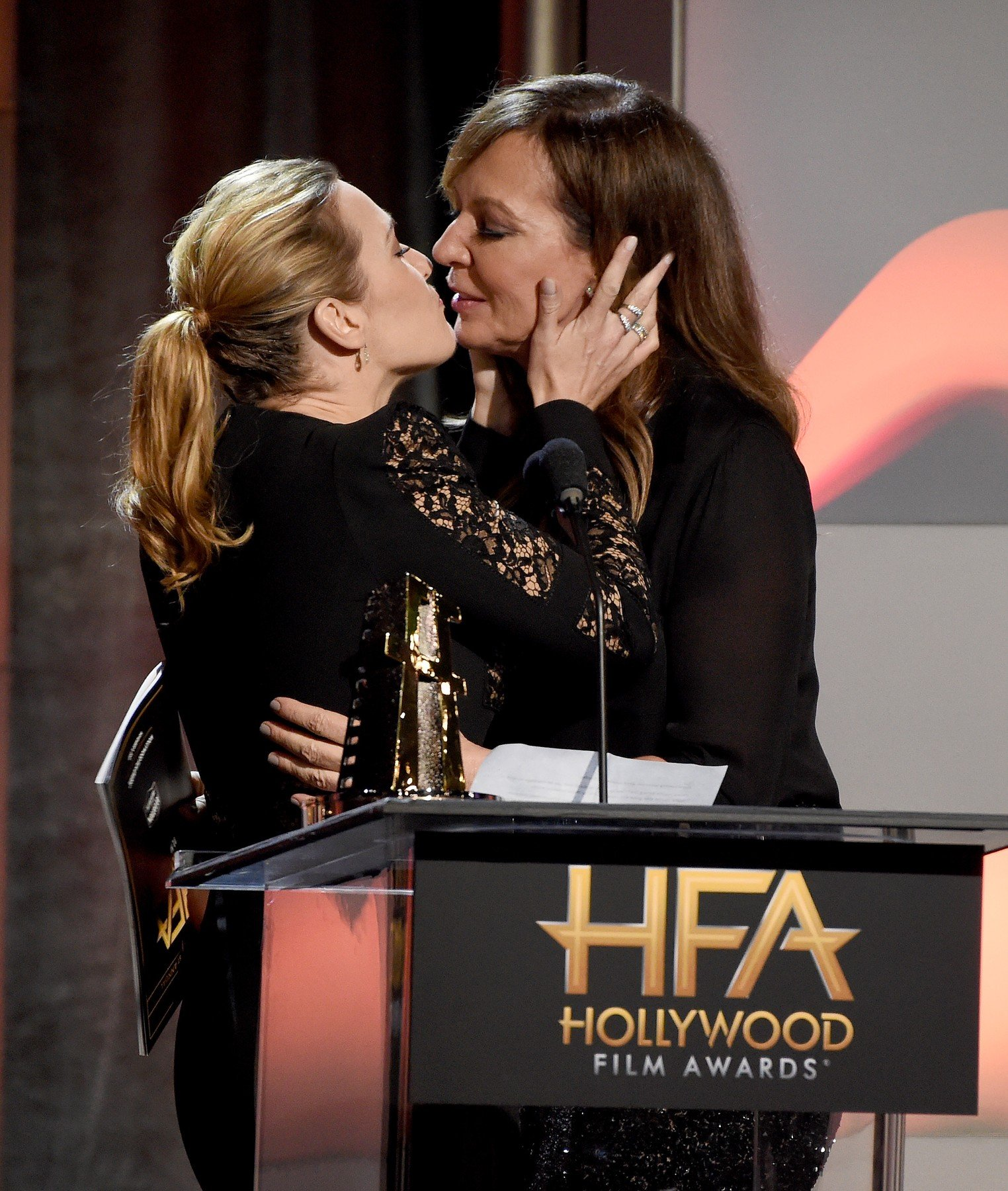 BEVERLY HILLS - NOVEMBER 5: Kate Winslet and Allison Janney at the 2017 Hollywood Film Awards at the Beverly Hilton on November 5, 2017 in Beverly Hills, California., Image: 354721215, License: Rights-managed, Restrictions: *** World Rights ***, Model Release: no, Credit line: Profimedia, SIPA USA