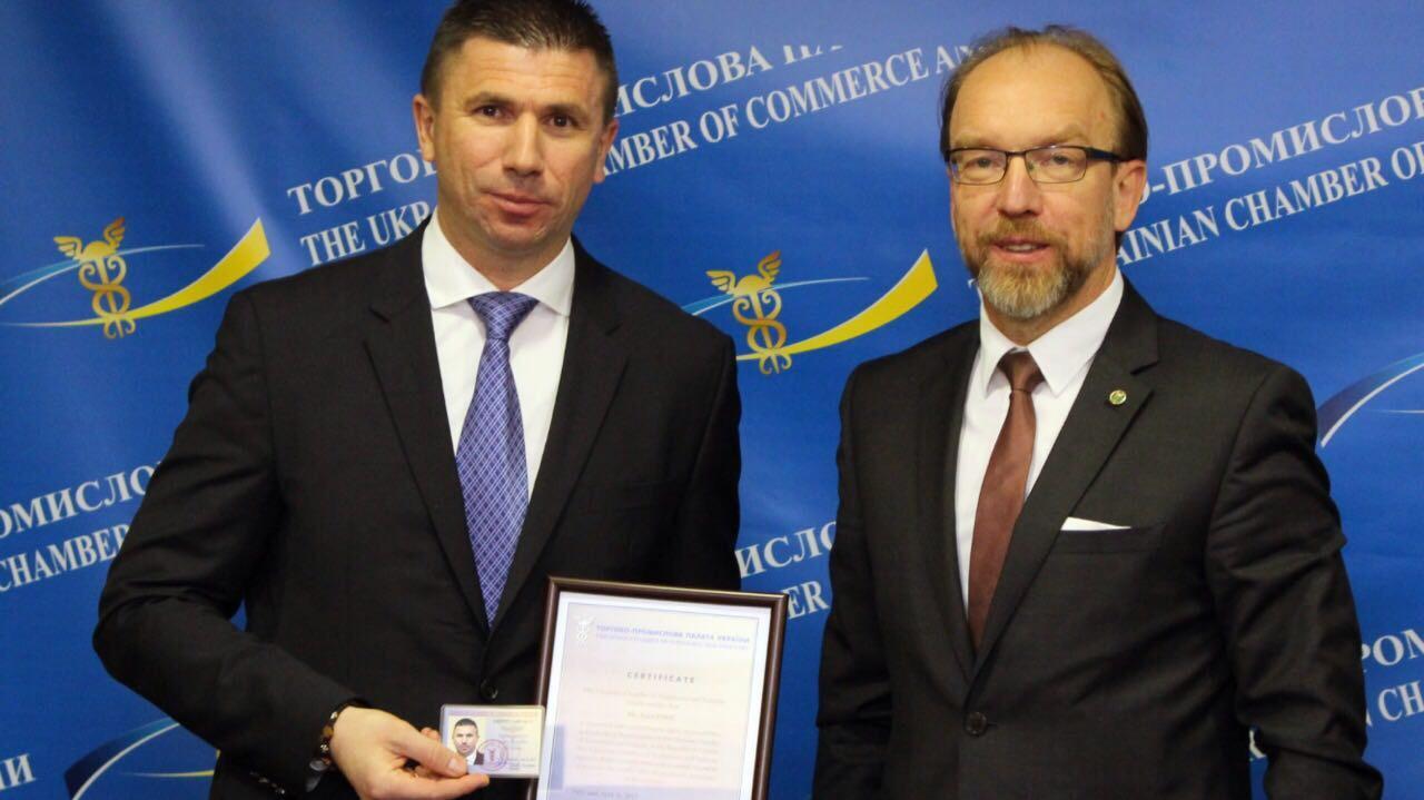 Ivica Pirić s predsjednikom Ukrajinske gospodarske komore