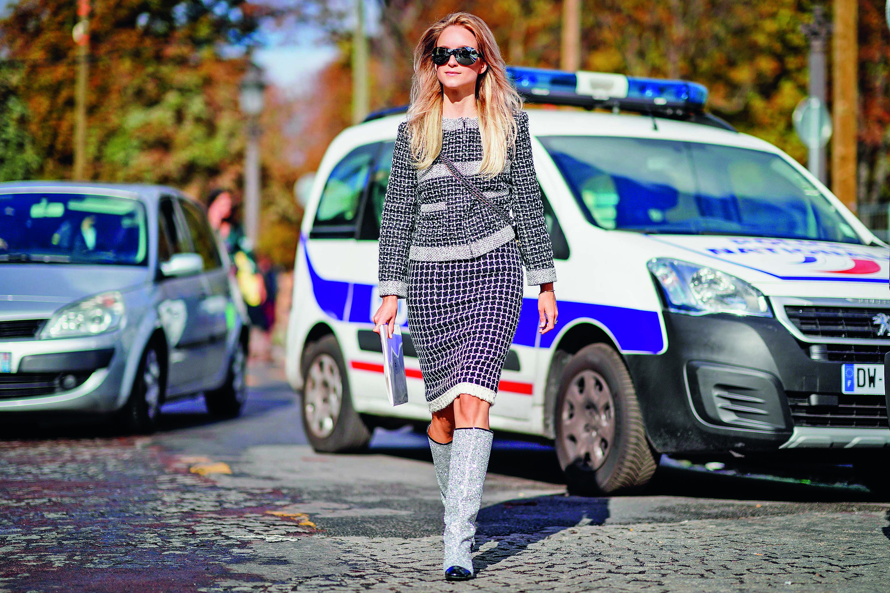 PARIS, FRANCE - OCTOBER 03:  Charlotte Groeneveld, outside Chanel, during Paris Fashion Week Womenswear Spring/Summer 2018, on October 3, 2017 in Paris, France.  (Photo by Edward Berthelot/Getty Images)