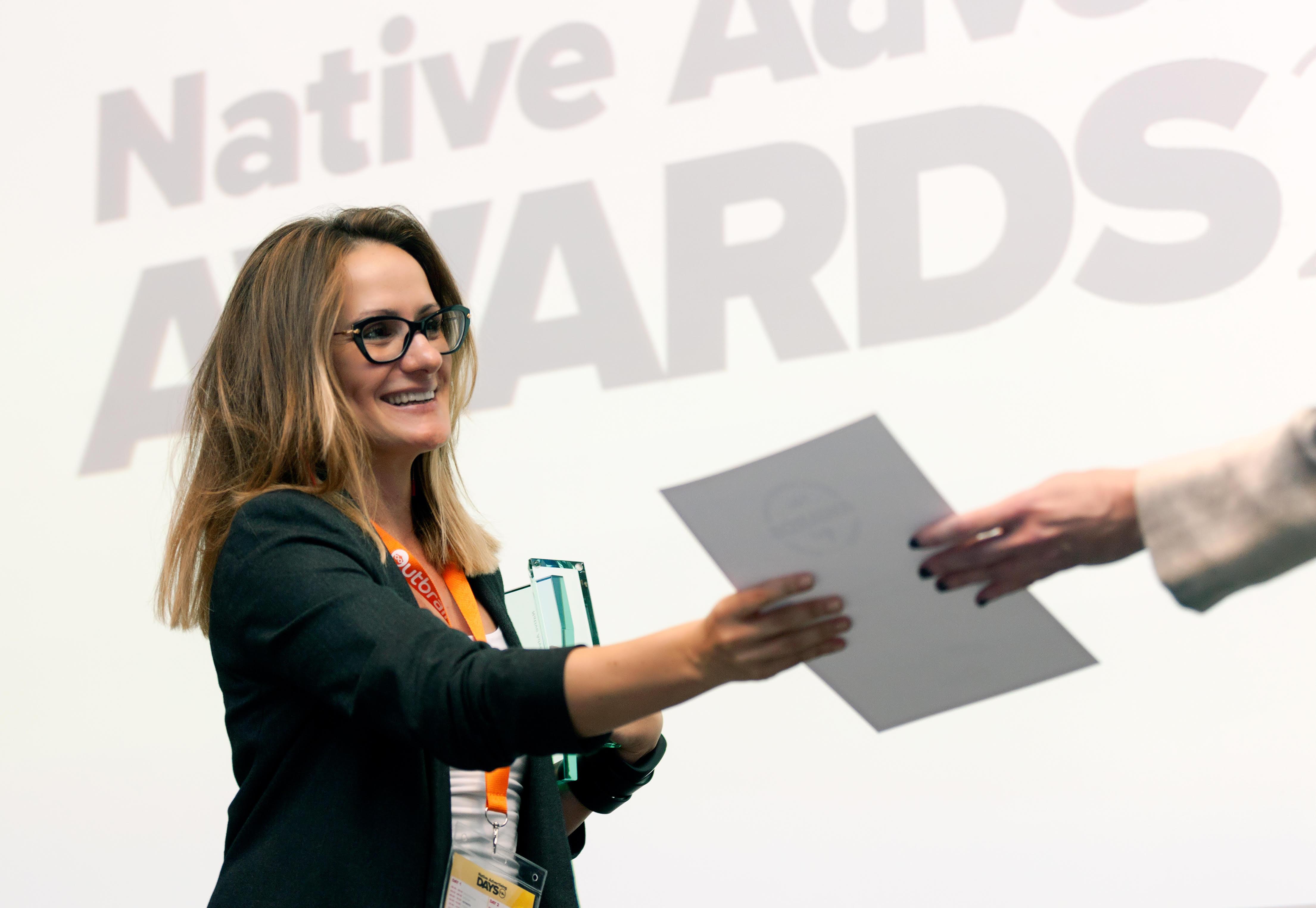 Dodjela nagrade direktorici Native Ad Studija Hanza Medije Ani Plišić