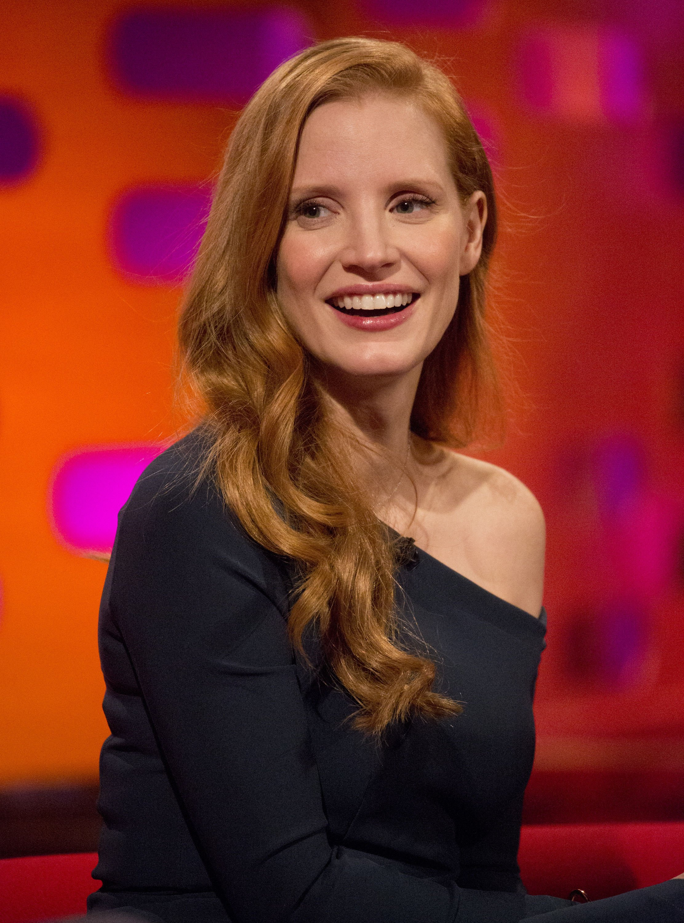 Jessica Chastain during filming of the Graham Norton Show at The London Studios, to be aired on BBC One on Friday., Image: 357195786, License: Rights-managed, Restrictions: , Model Release: no, Credit line: Profimedia, Press Association