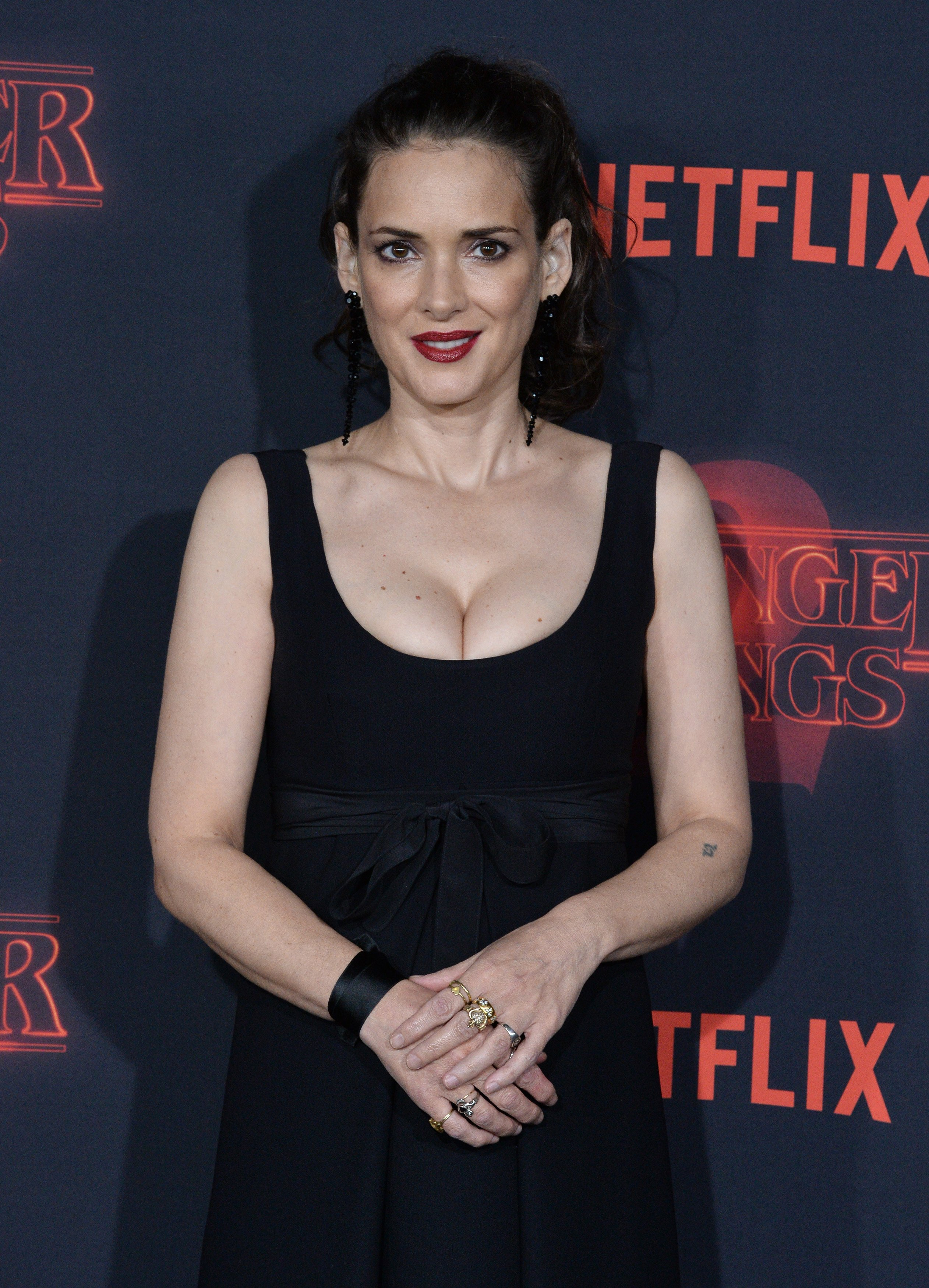 Cast member Winona Ryder attends the premiere of Netflix's