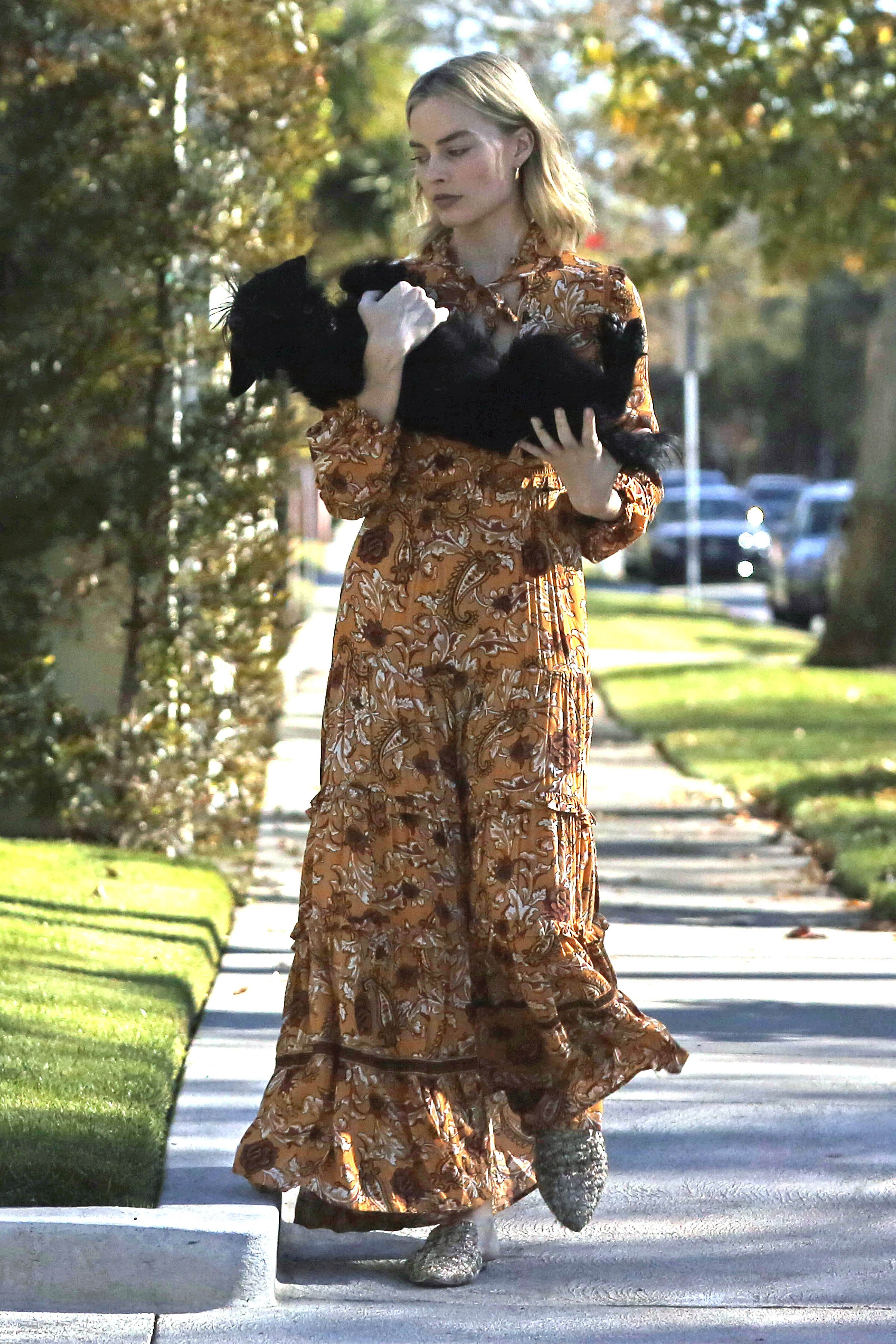 Exclusive, Los Angeles, CA - 20171211 - Margot Robbie and Tom Ackerley's Dog Get Loose in Their Neighborhood Until Tom Catches him and Takes him Back home  -PICTURED: Margot Robbie with dog -, Image: 357602696, License: Rights-managed, Restrictions: Exclusive, Model Release: no, Credit line: Profimedia, INSTAR Images