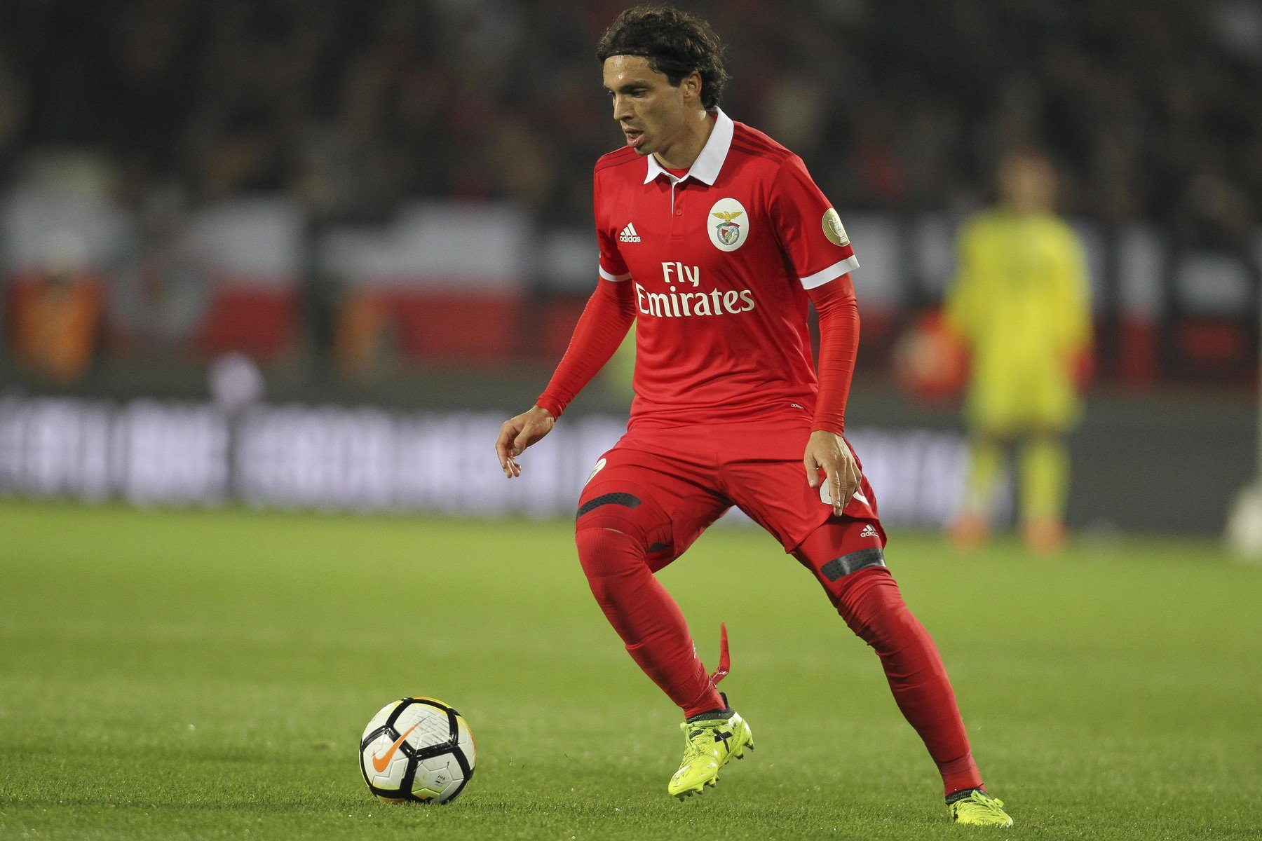 November 5, 2017 - Guimaraes, Guimaraes, Spain - Benfica's Croatian midfielder Filip Krovinovic during the Premier League 2017/18 match between Vitoria SC and SL Benfica, at Dao Afonso Henriques Stadium in Guimaraes on November 5, 2017., Image: 354700511, License: Rights-managed, Restrictions: * France Rights OUT *, Model Release: no, Credit line: Profimedia, Zuma Press - News
