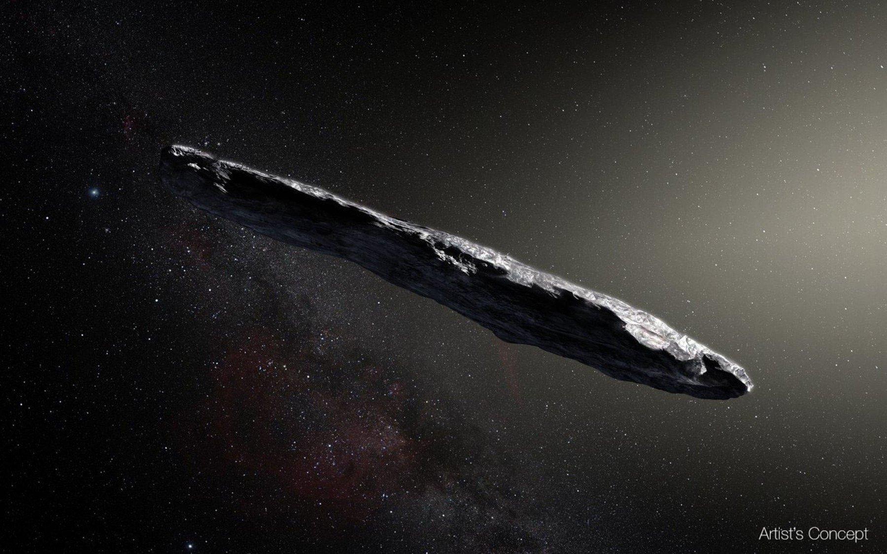 Ilustracija: Asteroid Oumuamua