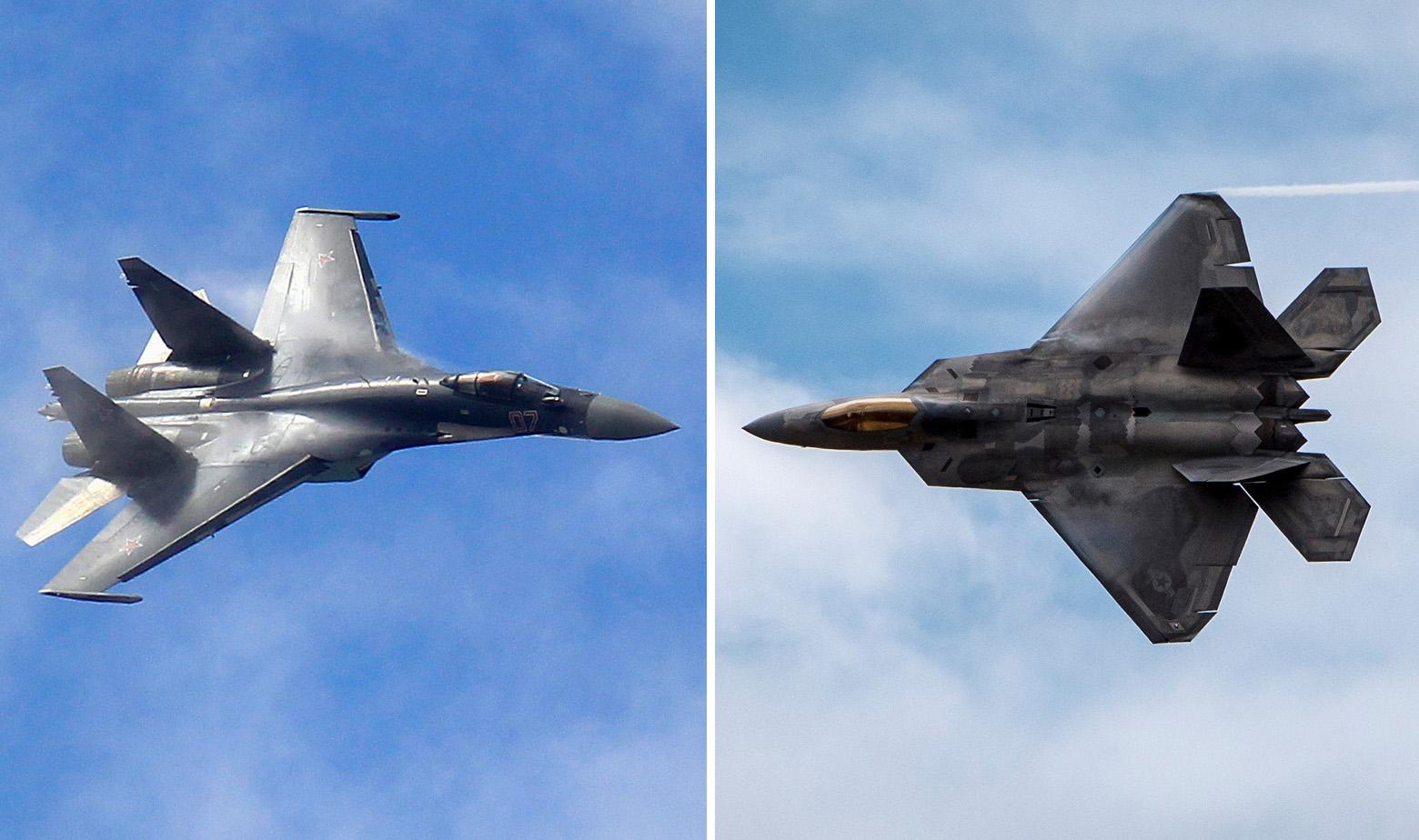 Suhoj Su-35 i F-22 Raptor