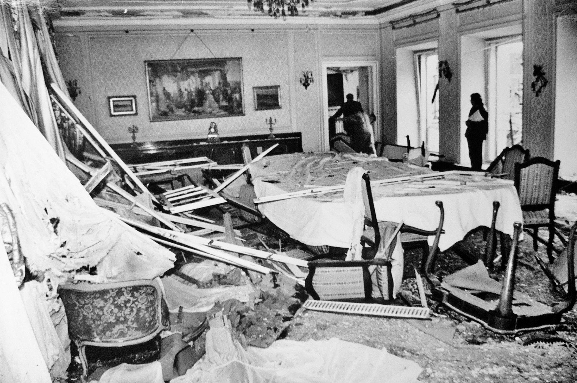 Posljedice raketiranja Banskih dvora 1991.