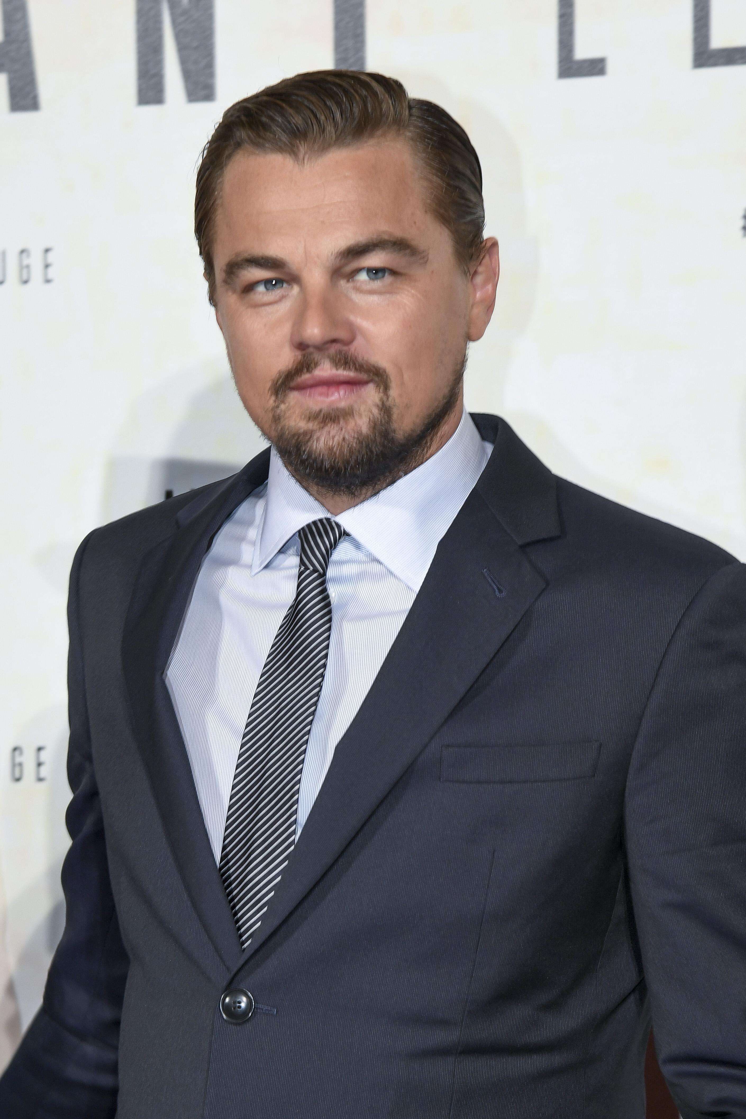 Leonardo Di Caprio attends the 'Before the Flodd -  Premiere at Theatre du Chatelet on October 17, 2016 in Paris, France.  <P> Pictured: Leonardo Di Caprio <B>Ref: SPL1375887  181016  </B><BR/> Picture by: KCS Presse / Splash News<BR/> </P><P> <B>Splash News and Pictures</B><BR/> Los Angeles:310-821-2666<BR/> New York:212-619-2666<BR/> London:870-934-2666<BR/> <span id=