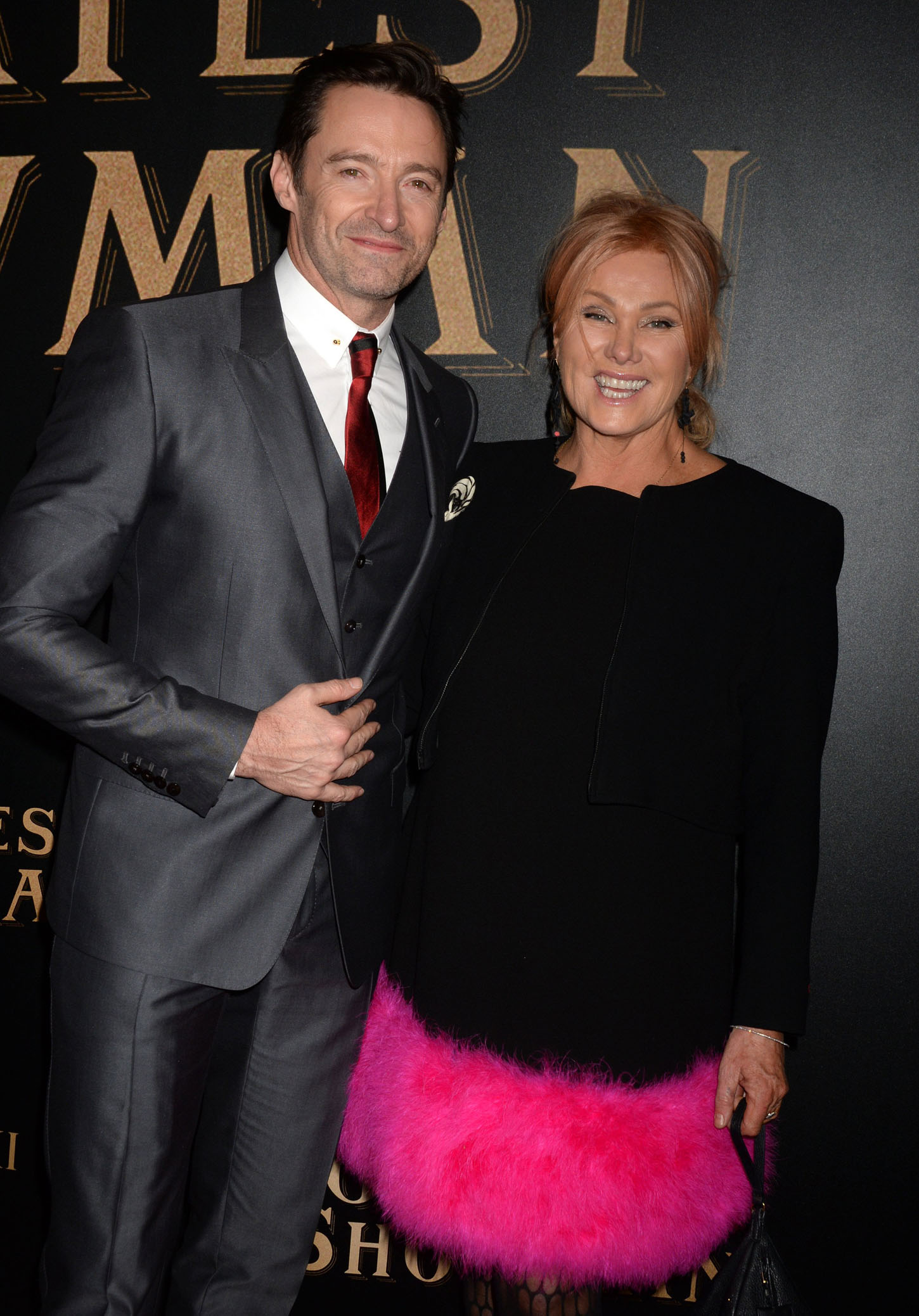 Deborra-lee Furness and Hugh Jackman arrive on the red carpet at the 'The Greatest Showman' World Premiere aboard the Queen Mary 2 at the Brooklyn Cruise Terminal on December 8, 2017 in New York City.     Photo by /UPI, Image: 357341091, License: Rights-managed, Restrictions: , Model Release: no, Credit line: Profimedia, UPI