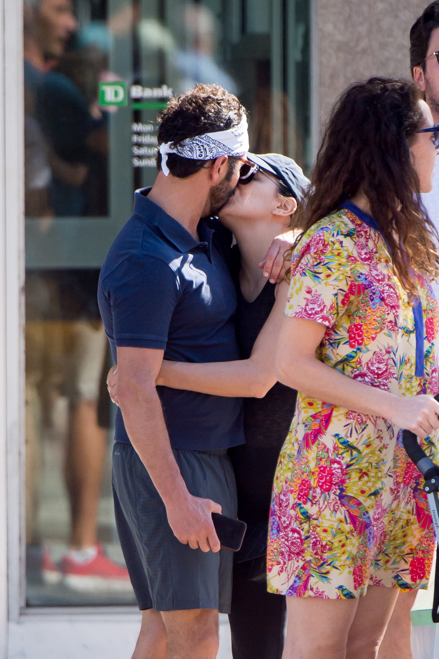 EXCLUSIVE: Pregnant Eva Longoria and her husband Jose Baston are seen kissing and walking arm in arm during a last minute Christmas shopping tour in Miami. They were joined by her friend Maria Bravo who is a Spanish actor and another male friend. The couple made a stop Williams Sonoma store.   <P> Pictured: Eva Longoria , Jose Baston <B>Ref: SPL1640252  241217   EXCLUSIVE</B><BR/> Picture by: Splash News<BR/> </P><P> <B>Splash News and Pictures</B><BR/> Los Angeles:310-821-2666<BR/> New York:212-619-2666<BR/> London:870-934-2666<BR/> <span id=