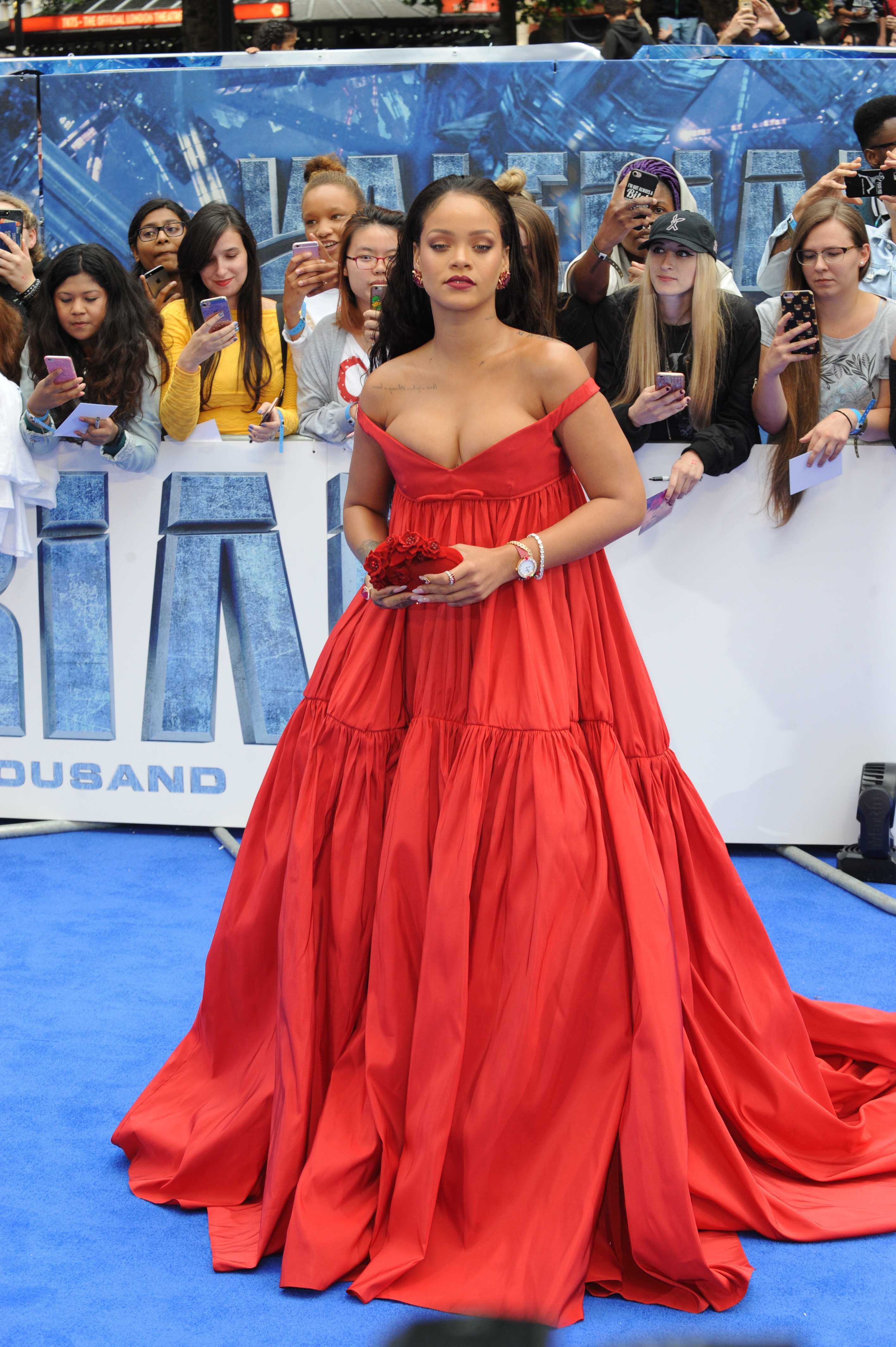 Celebrities arriving at the European premiere of 'Valerian And The City Of A Thousand Planets' at Leicester Square, London, UK. <P> Pictured: Rihanna <B>Ref: SPL1544304  240717  </B><BR/> Picture by: Splash News<BR/> </P><P> <B>Splash News and Pictures</B><BR/> Los Angeles:310-821-2666<BR/> New York:212-619-2666<BR/> London:870-934-2666<BR/> <span id=