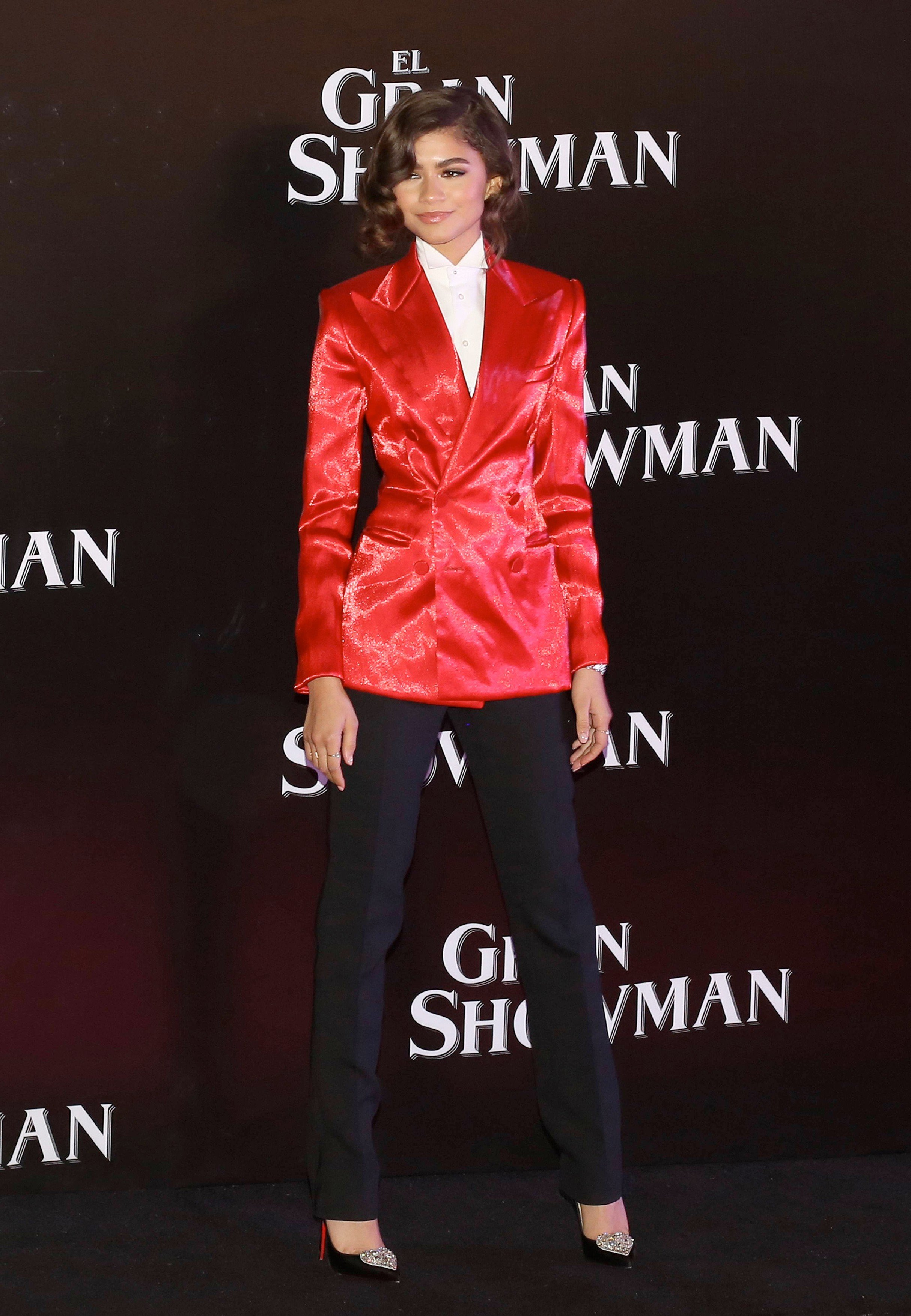 Zendaya at the premiere of The Great Showman in cinepolis Plaza Oasis CDMX Mexico  .CODE: MALLAM Mexico DF, 13 December 2017. HUGH JACKMAN AND ZENDAYA AT THE MEXICAN PREMIER OF THE GREAT SHOWMAN., Image: 357816062, License: Rights-managed, Restrictions: , Model Release: no, Credit line: Profimedia, Look Press Agency