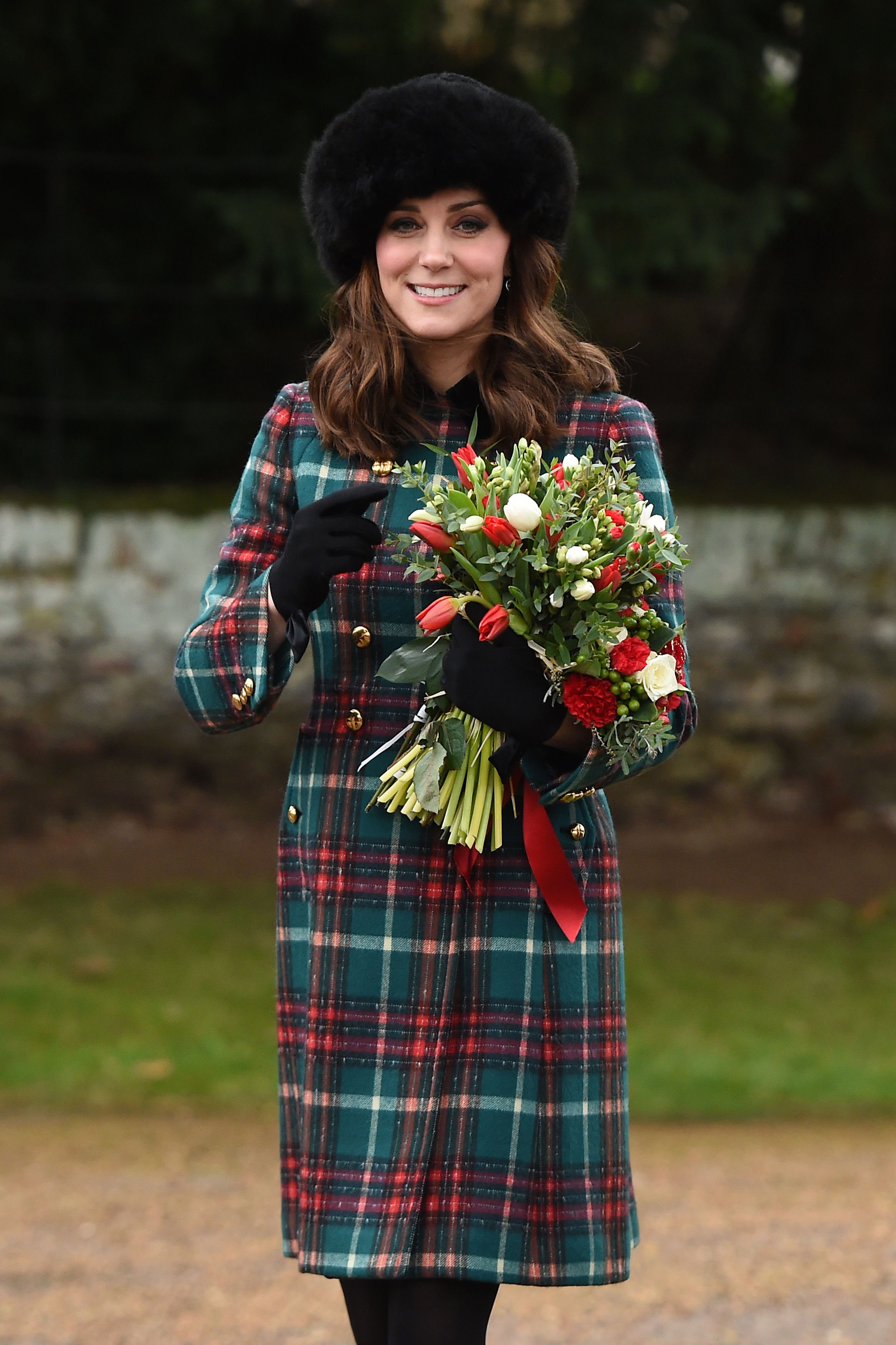 The Duchess of Cambridge leaves the Christmas Day morning church service at St Mary Magdalene Church in Sandringham, Norfolk., Image: 358603846, License: Rights-managed, Restrictions: , Model Release: no, Credit line: Profimedia, Press Association