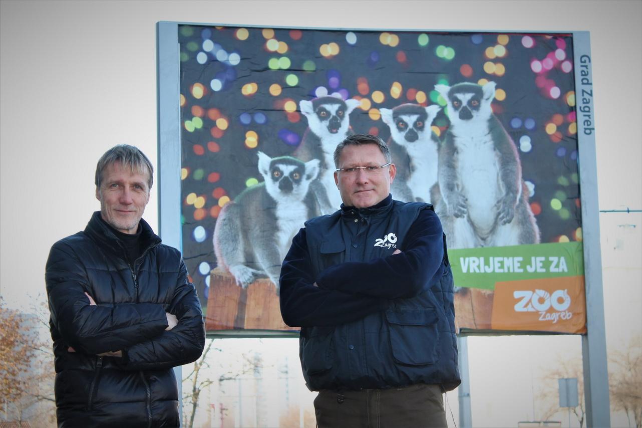 Damir Hoyka i Damir Skok (ravnatelj Zooloskog vrta grada Zagreba)