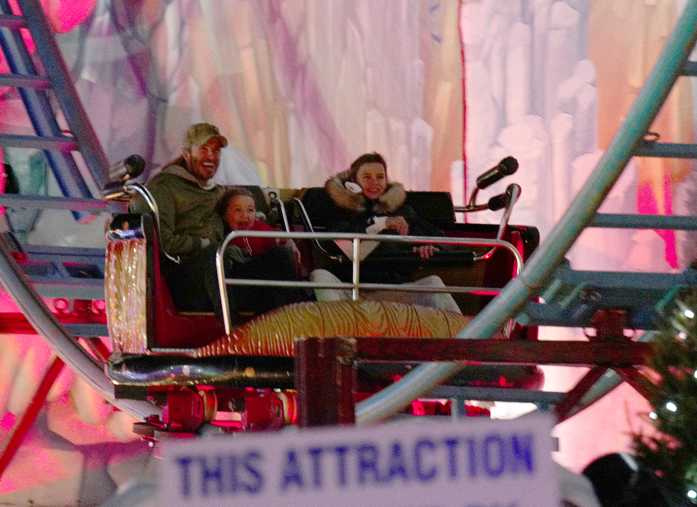 EXCLUSIVE: Doting dad David Beckham with kids Harper, Romeo and Cruz have a blast on the rides at Winter Wonderland, London. David and the kids were all smiles as they looked to be having a great family time on a rollercoaster and a pirate ship at the popular Christmas fair in Hyde Park.   Pics taken Nov 28th. <P> Pictured: Doting dad David Beckham, Harper, Romeo and Cruz <B>Ref: SPL1632599  051217   EXCLUSIVE</B><BR/> Picture by: Splash News<BR/> </P><P> <B>Splash News and Pictures</B><BR/> Los Angeles:	310-821-2666<BR/> New York:	212-619-2666<BR/> London:	870-934-2666<BR/> <span id=