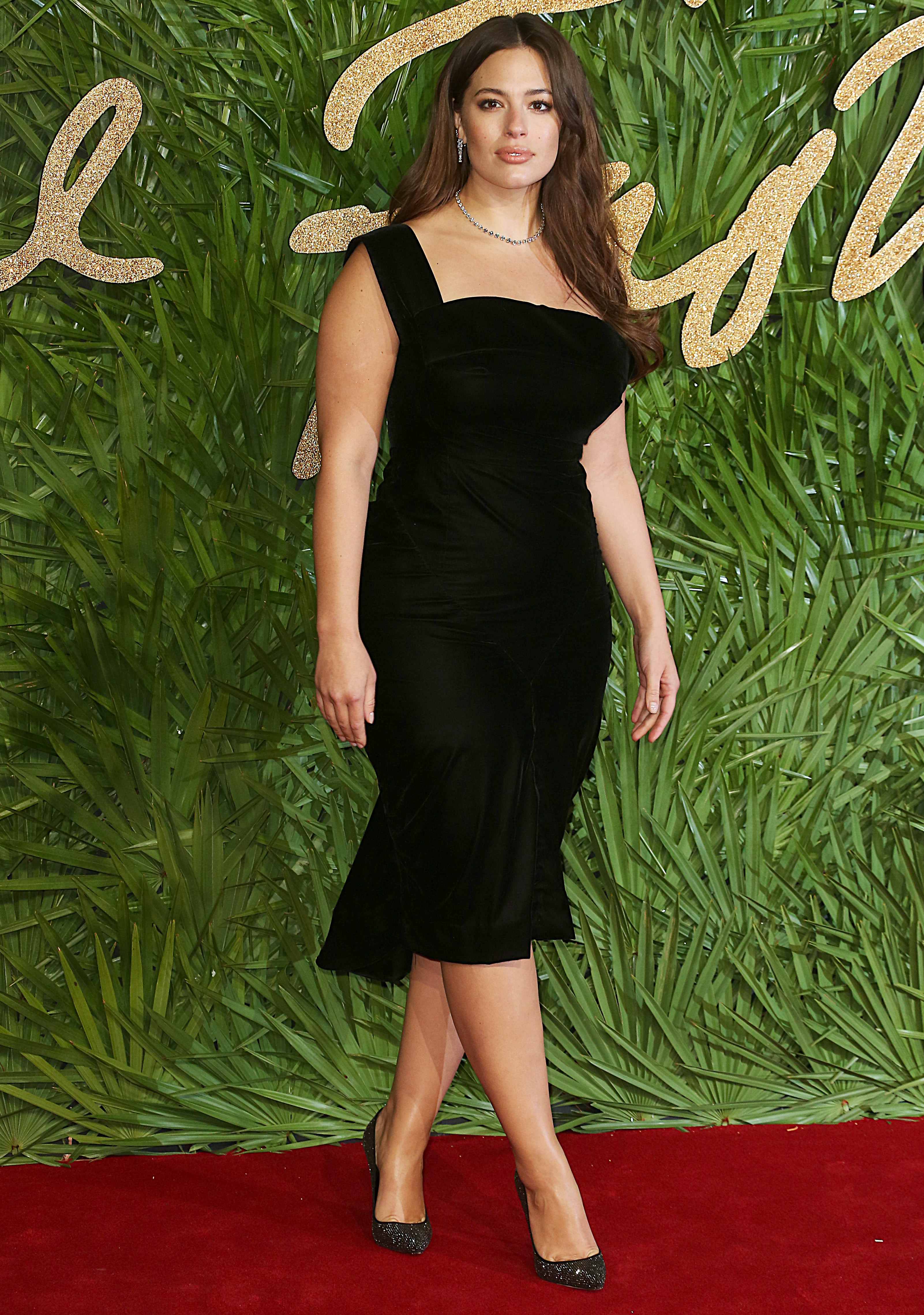 The Fashion Awards 2017, Royal Albert Hall, London UK, 04 December 2017, Photo by Brett D. Cove <P> Pictured: Ashley Graham <B>Ref: SPL1632930  051217  </B><BR/> Picture by: Brett D. Cove / Splash News<BR/> </P><P> <B>Splash News and Pictures</B><BR/> Los Angeles:310-821-2666<BR/> New York:212-619-2666<BR/> London:870-934-2666<BR/> <span id=