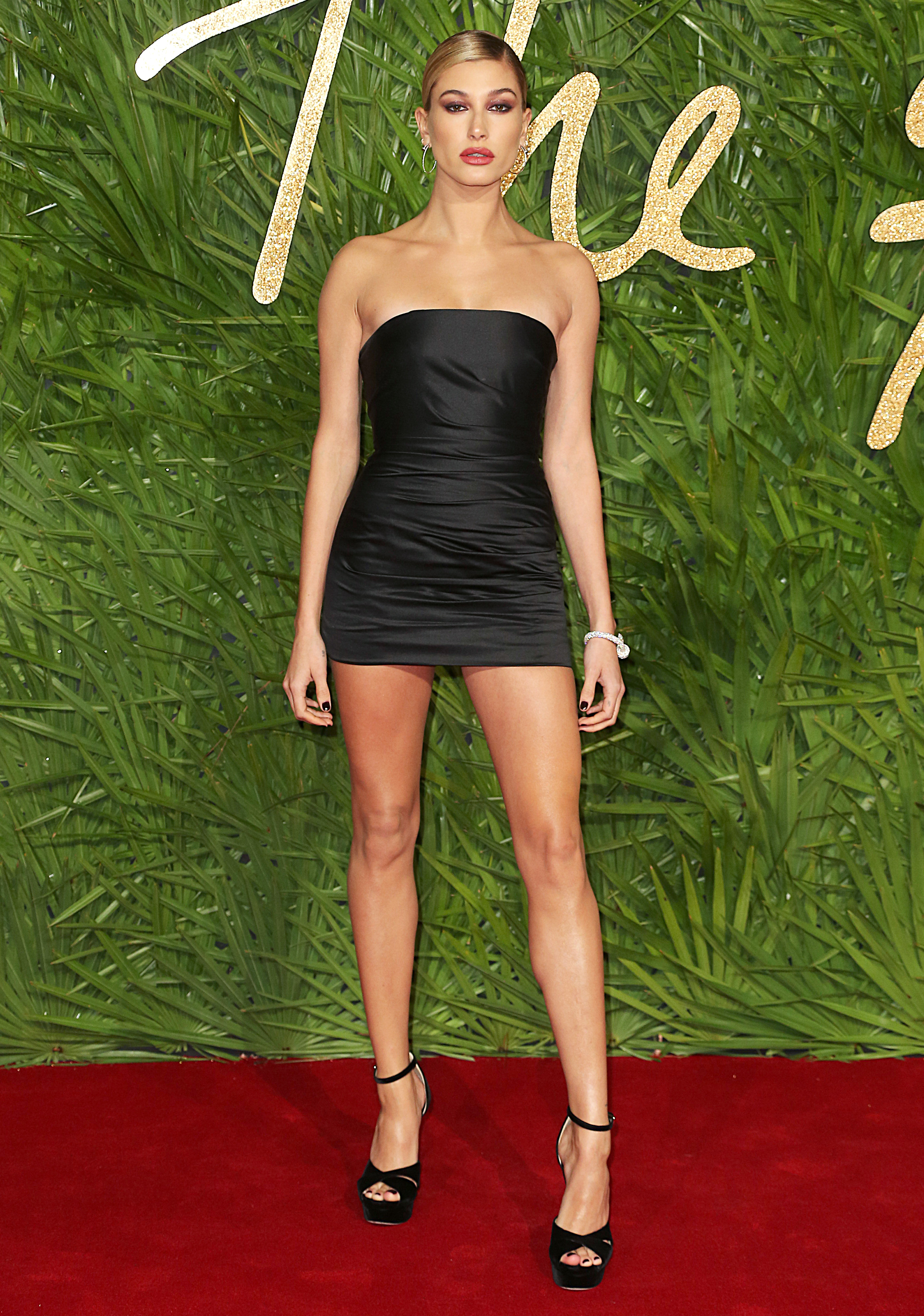 The Fashion Awards 2017, Royal Albert Hall, London UK, 04 December 2017, Photo by Brett D. Cove <P> Pictured: Hailey Baldwin <B>Ref: SPL1632930  051217  </B><BR/> Picture by: Brett D. Cove / Splash News<BR/> </P><P> <B>Splash News and Pictures</B><BR/> Los Angeles:310-821-2666<BR/> New York:212-619-2666<BR/> London:870-934-2666<BR/> <span id=