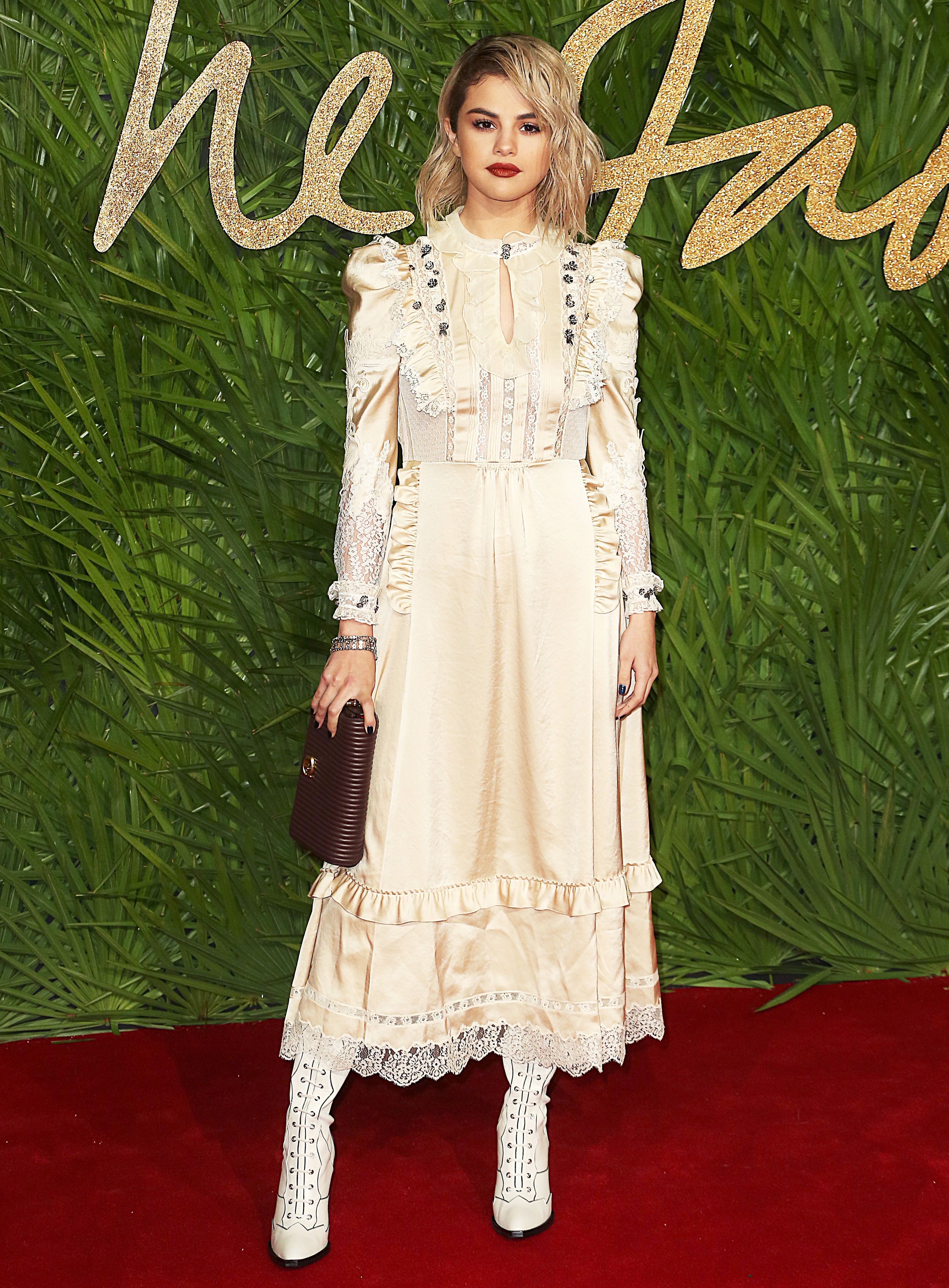 The Fashion Awards 2017, Royal Albert Hall, London UK, 04 December 2017, Photo by Brett D. Cove <P> Pictured: Selena Gomez <B>Ref: SPL1632930  051217  </B><BR/> Picture by: Brett D. Cove / Splash News<BR/> </P><P> <B>Splash News and Pictures</B><BR/> Los Angeles:310-821-2666<BR/> New York:212-619-2666<BR/> London:870-934-2666<BR/> <span id=