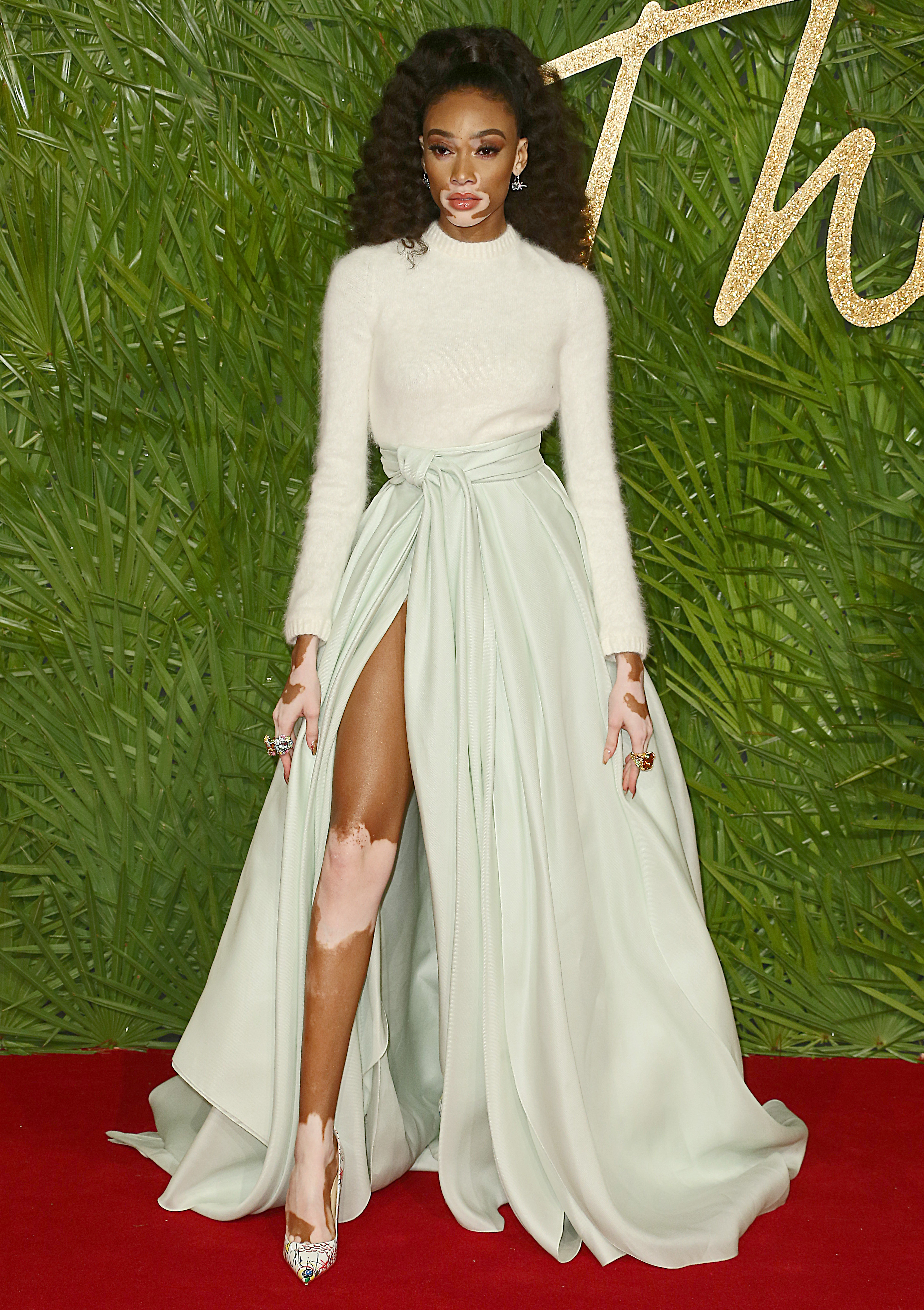 The Fashion Awards 2017, Royal Albert Hall, London UK, 04 December 2017, Photo by Brett D. Cove <P> Pictured: Winnie Harlow <B>Ref: SPL1632930  051217  </B><BR/> Picture by: Brett D. Cove / Splash News<BR/> </P><P> <B>Splash News and Pictures</B><BR/> Los Angeles:310-821-2666<BR/> New York:212-619-2666<BR/> London:870-934-2666<BR/> <span id=