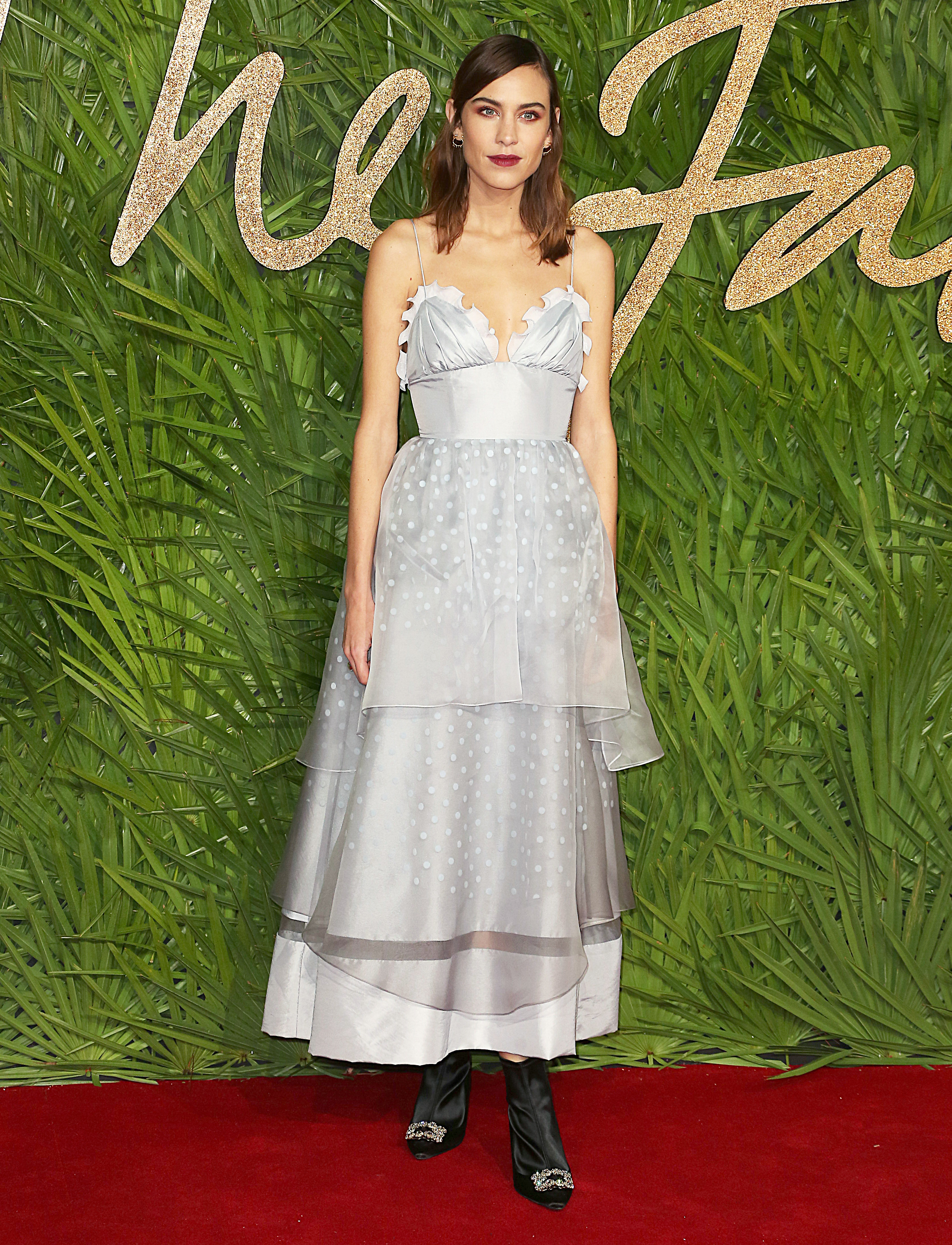 The Fashion Awards 2017, Royal Albert Hall, London UK, 04 December 2017, Photo by Brett D. Cove <P> Pictured: Alexa Chung <B>Ref: SPL1633061  051217  </B><BR/> Picture by: Brett D. Cove / Splash News<BR/> </P><P> <B>Splash News and Pictures</B><BR/> Los Angeles:310-821-2666<BR/> New York:212-619-2666<BR/> London:870-934-2666<BR/> <span id=