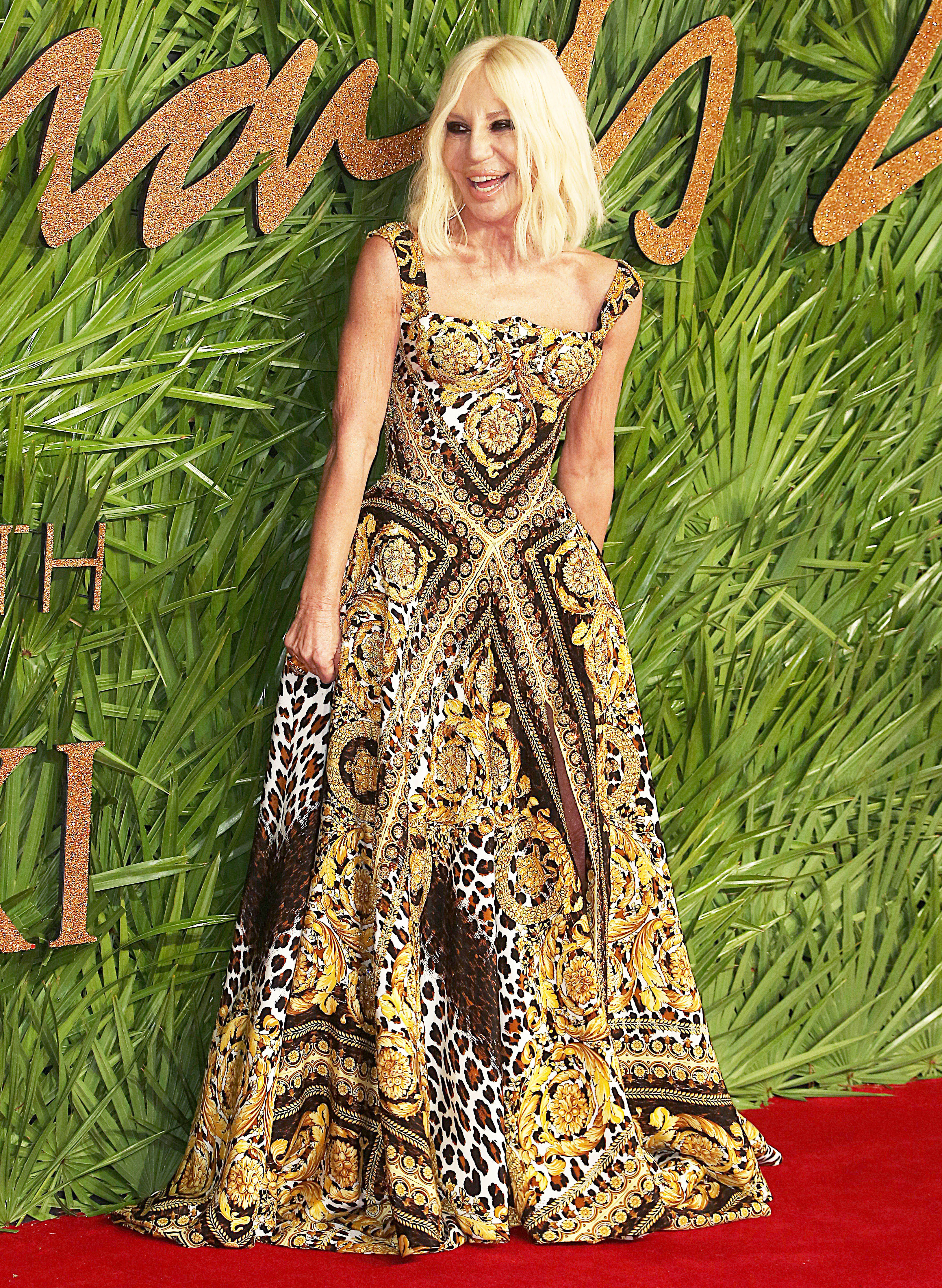 The Fashion Awards 2017, Royal Albert Hall, London UK, 04 December 2017, Photo by Brett D. Cove <P> Pictured: Donatella Versace <B>Ref: SPL1633061  051217  </B><BR/> Picture by: Brett D. Cove / Splash News<BR/> </P><P> <B>Splash News and Pictures</B><BR/> Los Angeles:310-821-2666<BR/> New York:212-619-2666<BR/> London:870-934-2666<BR/> <span id=