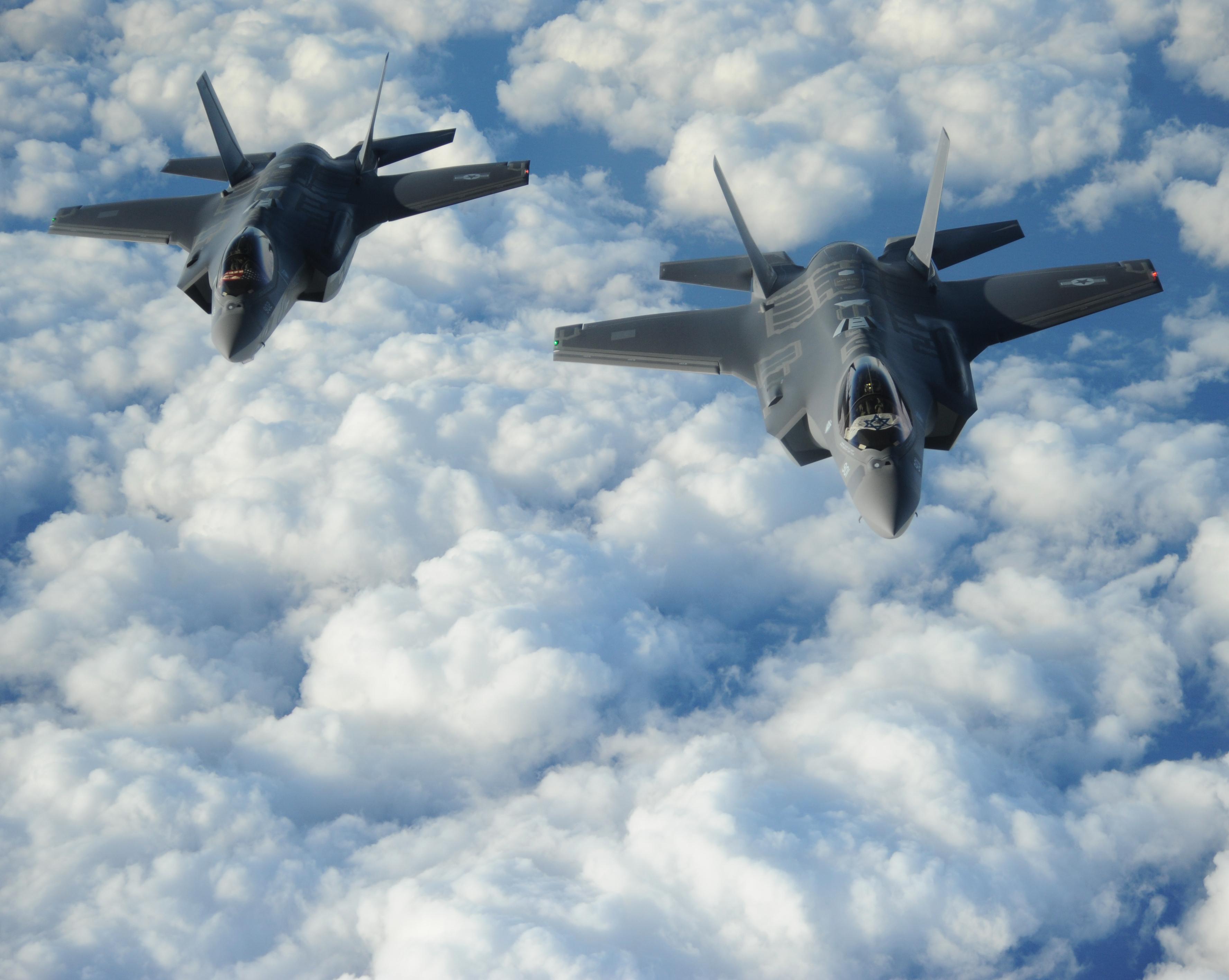 Dva F-35 Adir zrakoplova netom prije polaska za Izrael iz SAD-a