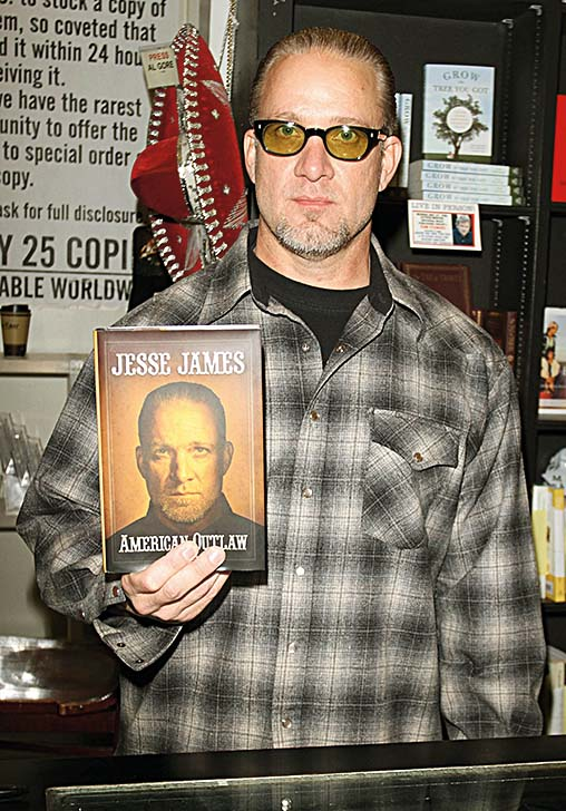 Sandra Bullock's ex-husband Jesse James attends a book signing for his new book 'American Outlaw' at Book Soup in Los Angeles, CA. 5/14/11, Image: 94333440, License: Rights-managed, Restrictions: MAVRIXONLINE.COM 305 542 9275 or 954 698 6777. Fees must be agreed for image use. Daily Mail Online Out. Byline, credit, TV usage, web usage or linkback must read MAVRIXONLINE.COM. Failure to byline correctly will incur double the agreed fee., Model Release: no, Credit line: Profimedia, Mavrixphoto