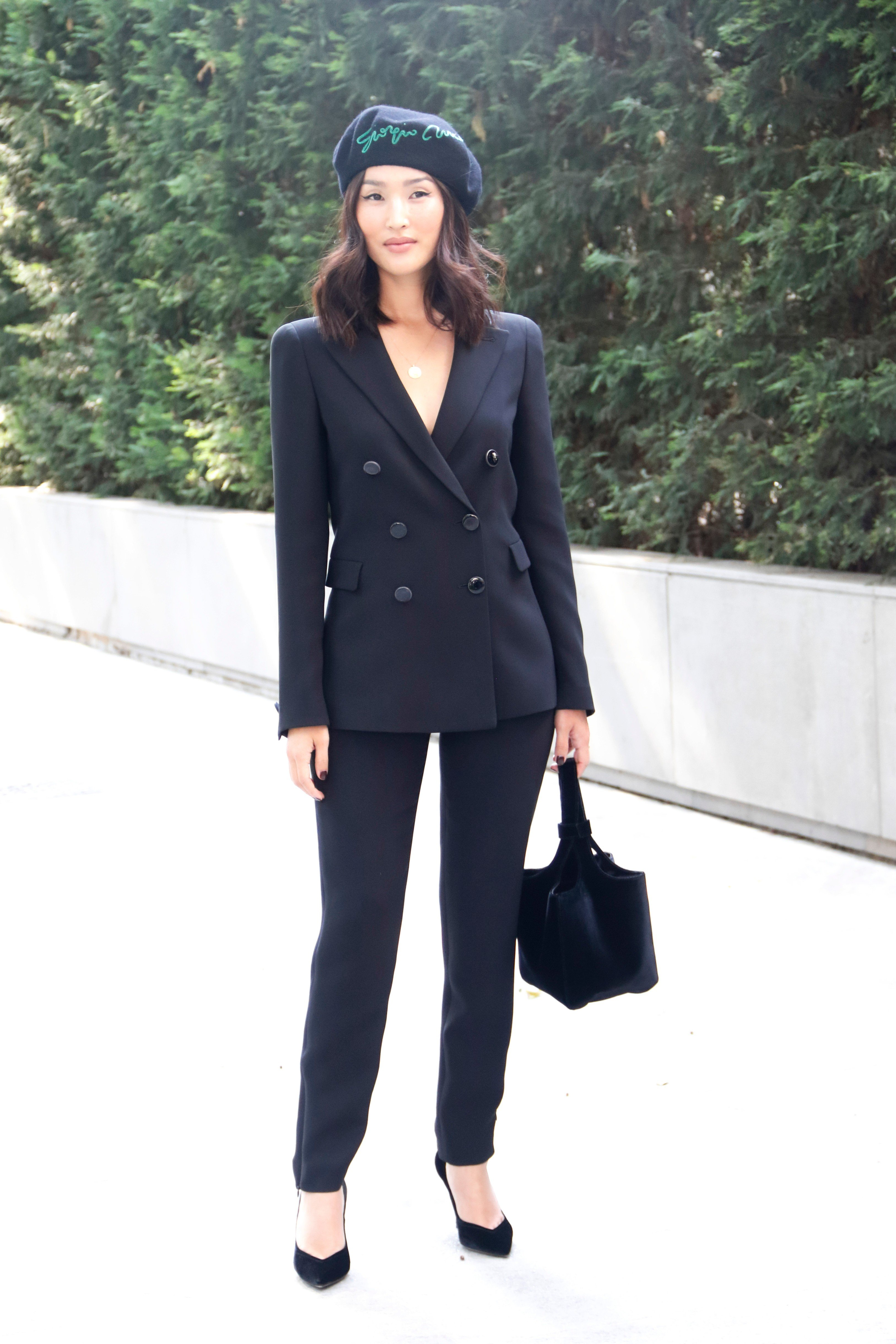Nicole Warne arriving at Giorgio Armani Fashion Show during Milan Fashion Week Spring/Summer 2018 on September 23, 2017 in Milan, Italy., Image: 350342895, License: Rights-managed, Restrictions: , Model Release: no, Credit line: Profimedia, Abaca
