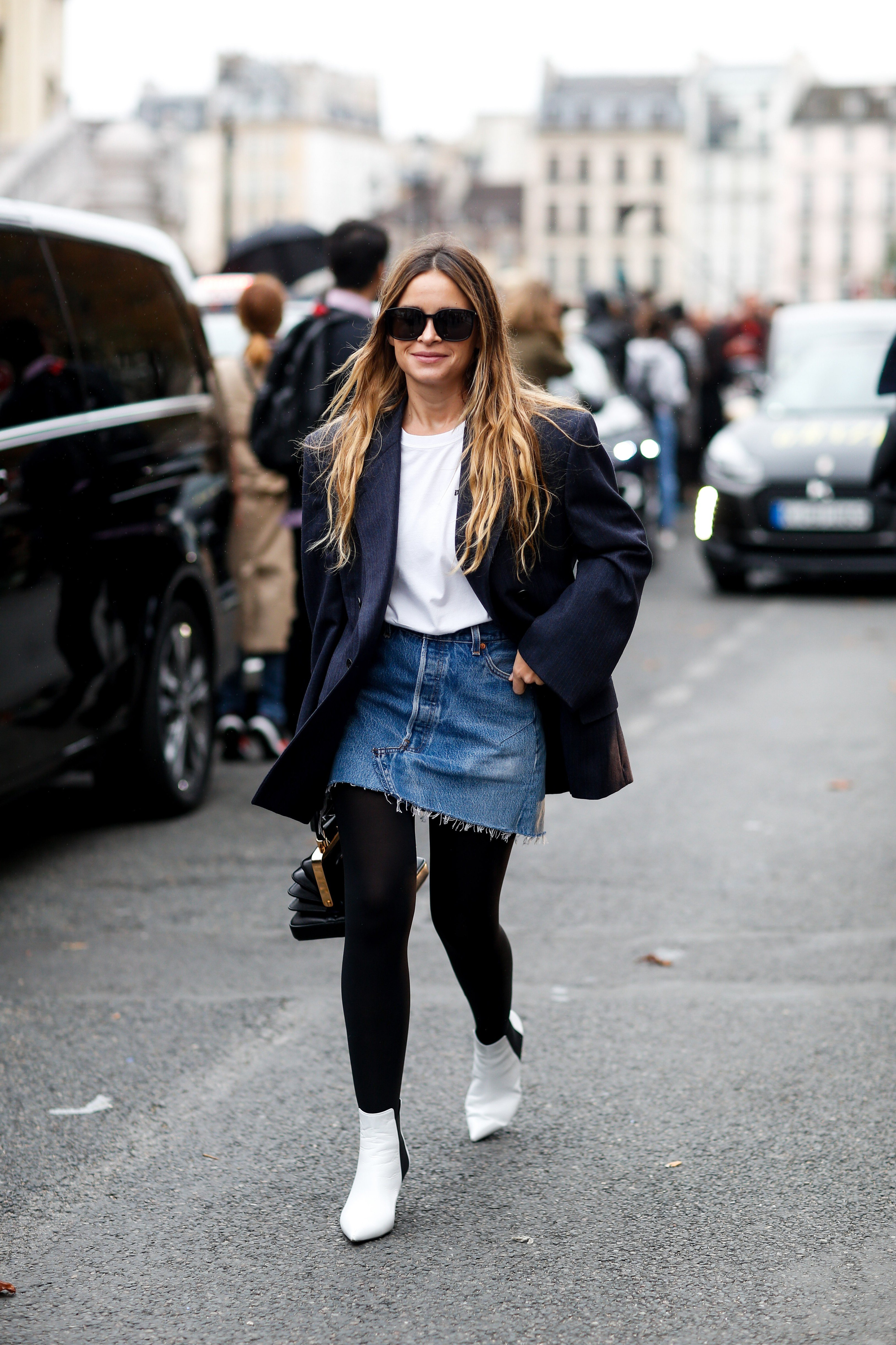 Street style, Miroslava Duma (Mira Duma) arriving at Givenchy Spring-Summer 2018 show held at Palais de Justice, in Paris, France, on October 1st, 2017., Image: 352028053, License: Rights-managed, Restrictions: , Model Release: no, Credit line: Profimedia, Abaca