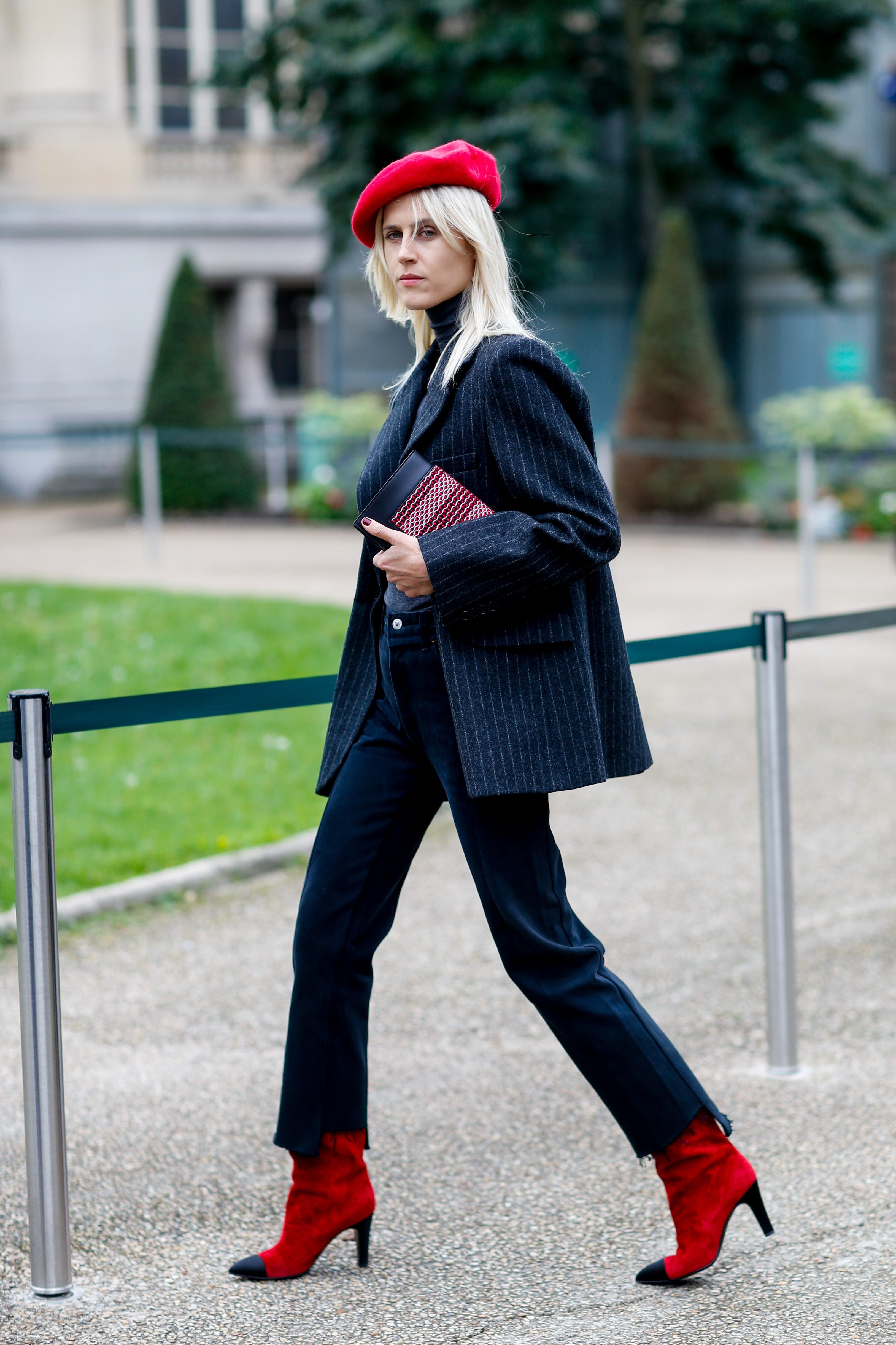 Street style, Linda Tol arriving at Sacai Spring-Summer 2018 show held at Grand Palais, Paris, France, on October 2nd, 2017., Image: 352076198, License: Rights-managed, Restrictions: , Model Release: no, Credit line: Profimedia, Abaca
