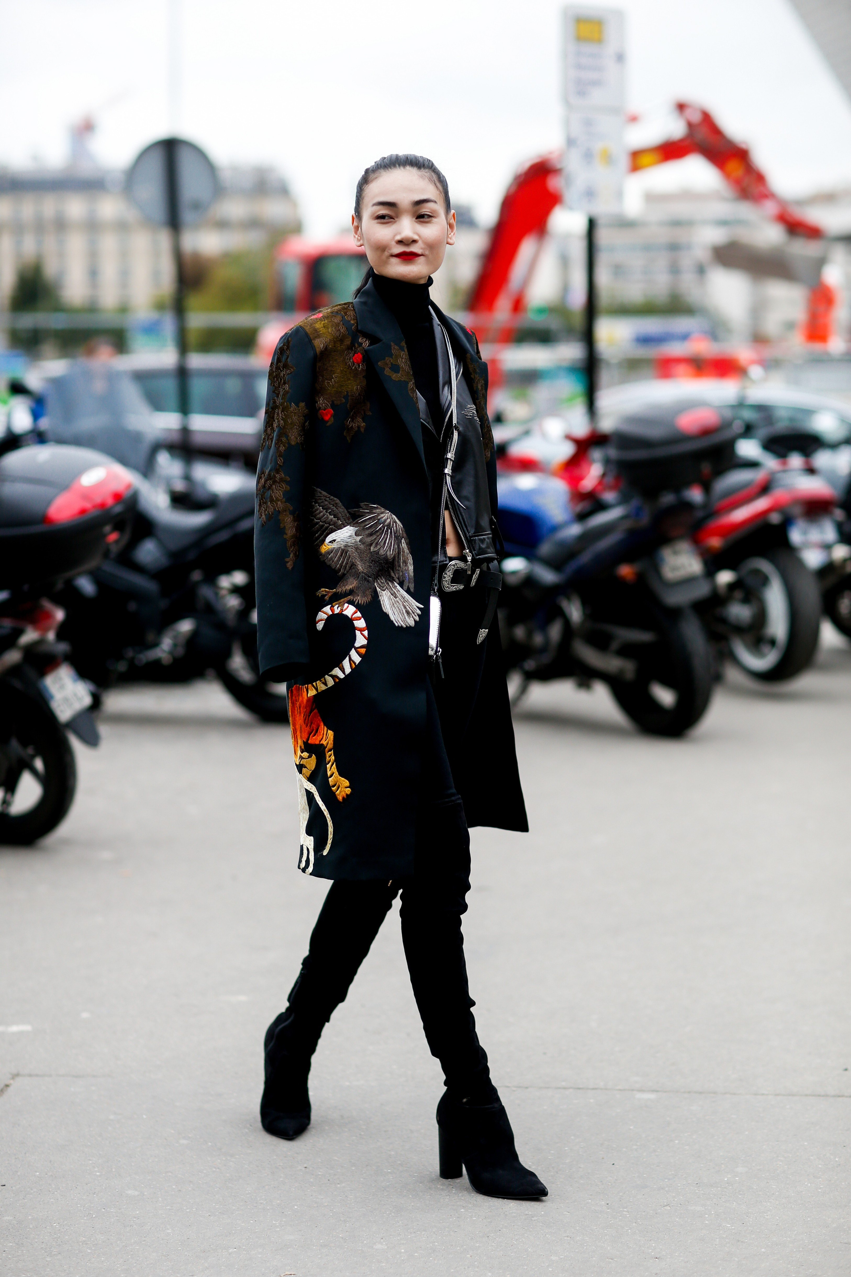 Street style, arriving at Giambattista Valli Spring-Summer 2018 show held at Boulevard Pereire, Paris, France, on October 2nd, 2017., Image: 352076255, License: Rights-managed, Restrictions: , Model Release: no, Credit line: Profimedia, Abaca
