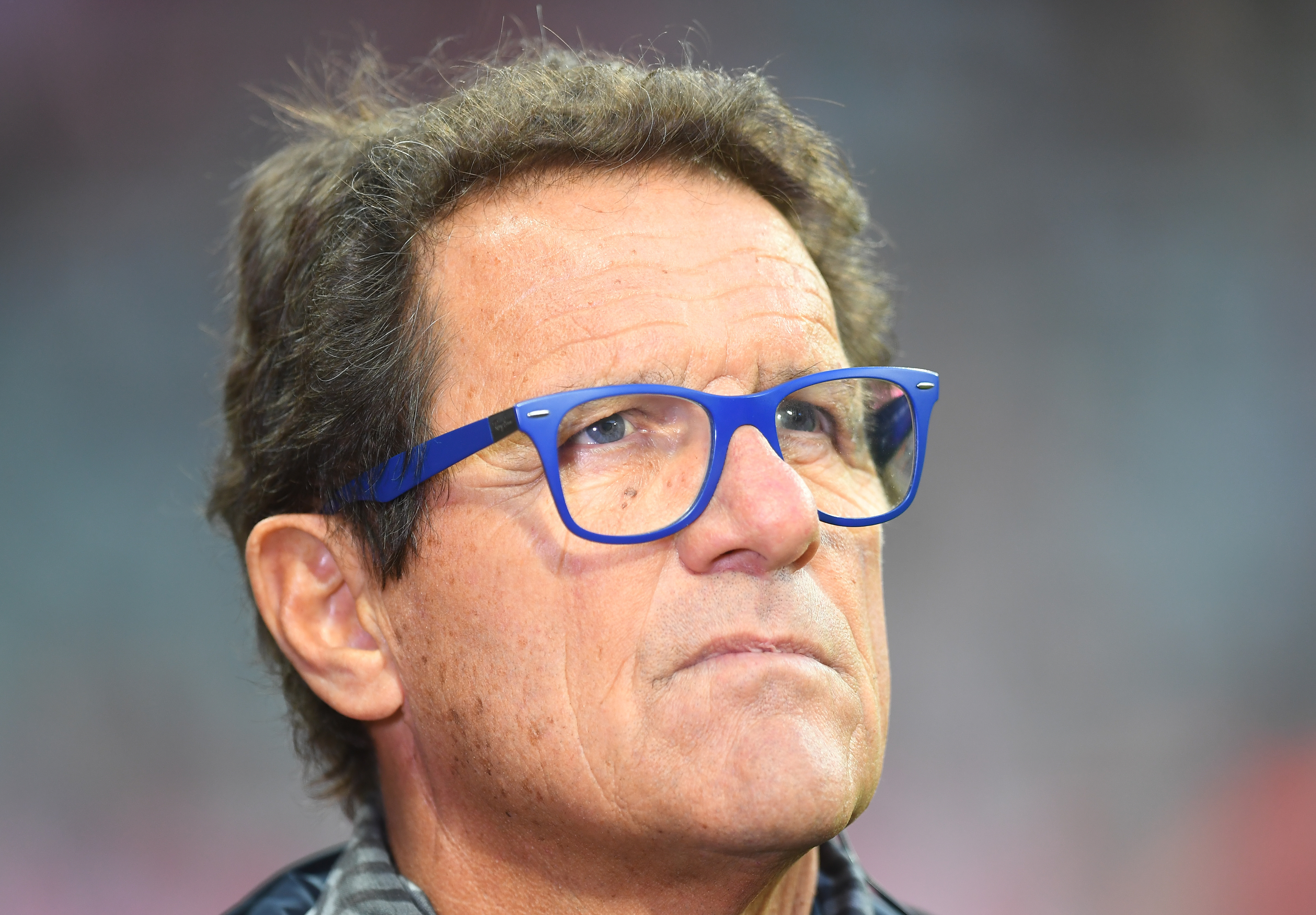 MUNICH, GERMANY - OCTOBER 22:  Former coach Fabio Capello attends the Bundesliga match between FC Bayern Muenchen and Borussia Moenchengladbach at Allianz Arena on October 22, 2016 in Munich, Germany.  (Photo by Lennart Preiss/Bongarts/Getty Images)