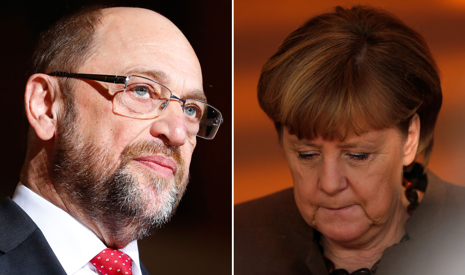 Martin Schulz i Angela Merkel