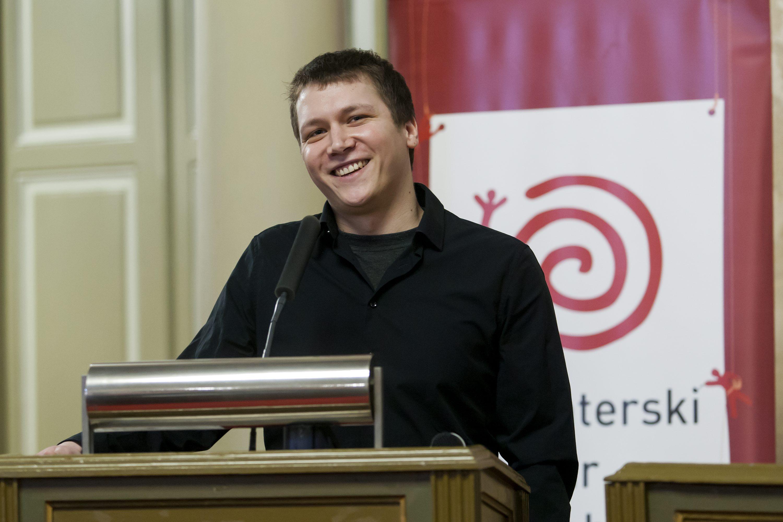 Na fotografiji: Matej Ilić Buljan - osvajač Volonterskog oskara za 2016 godinu.