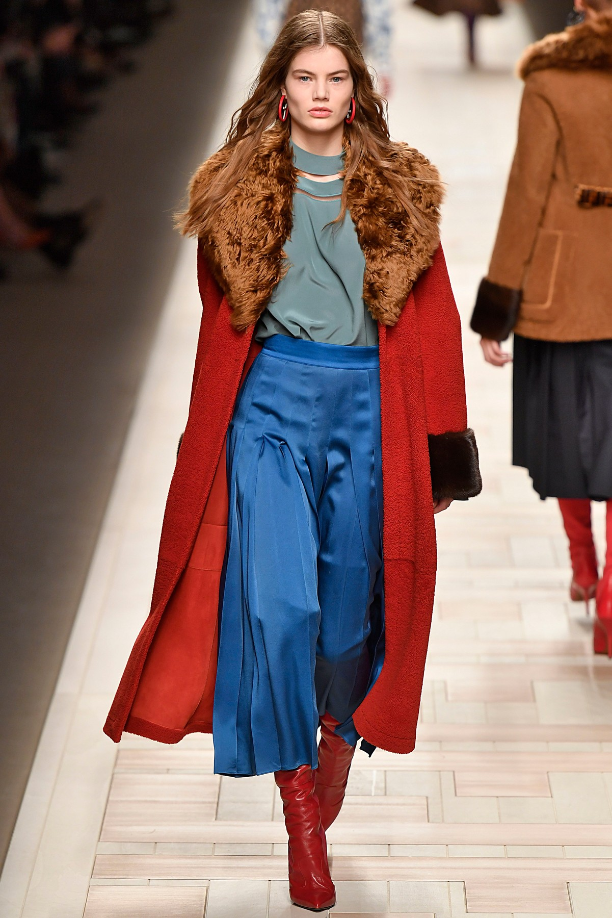 Model walking the runway at the Fendi show during Milan Fashion Week Fall/Winter 2017/18 on February 23, 2017 in Milan, Italy., Image: 322106781, License: Rights-managed, Restrictions: EDITORIAL USAGE ONLY, all other usage only after written permission., Model Release: no, Credit line: Profimedia, SIPA USA