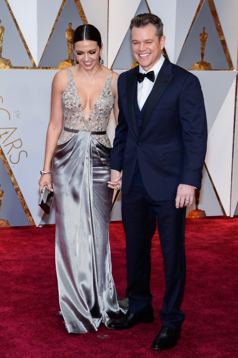 Luciana Barroso and Matt Damon walking the red carpet during the 89th Academy Awards ceremony, presented by the Academy of Motion Picture Arts and Sciences, held at the Dolby Theatre in Hollywood, California on February 26, 2017., Image: 322549858, License: Rights-managed, Restrictions: , Model Release: no, Credit line: Profimedia, SIPA USA