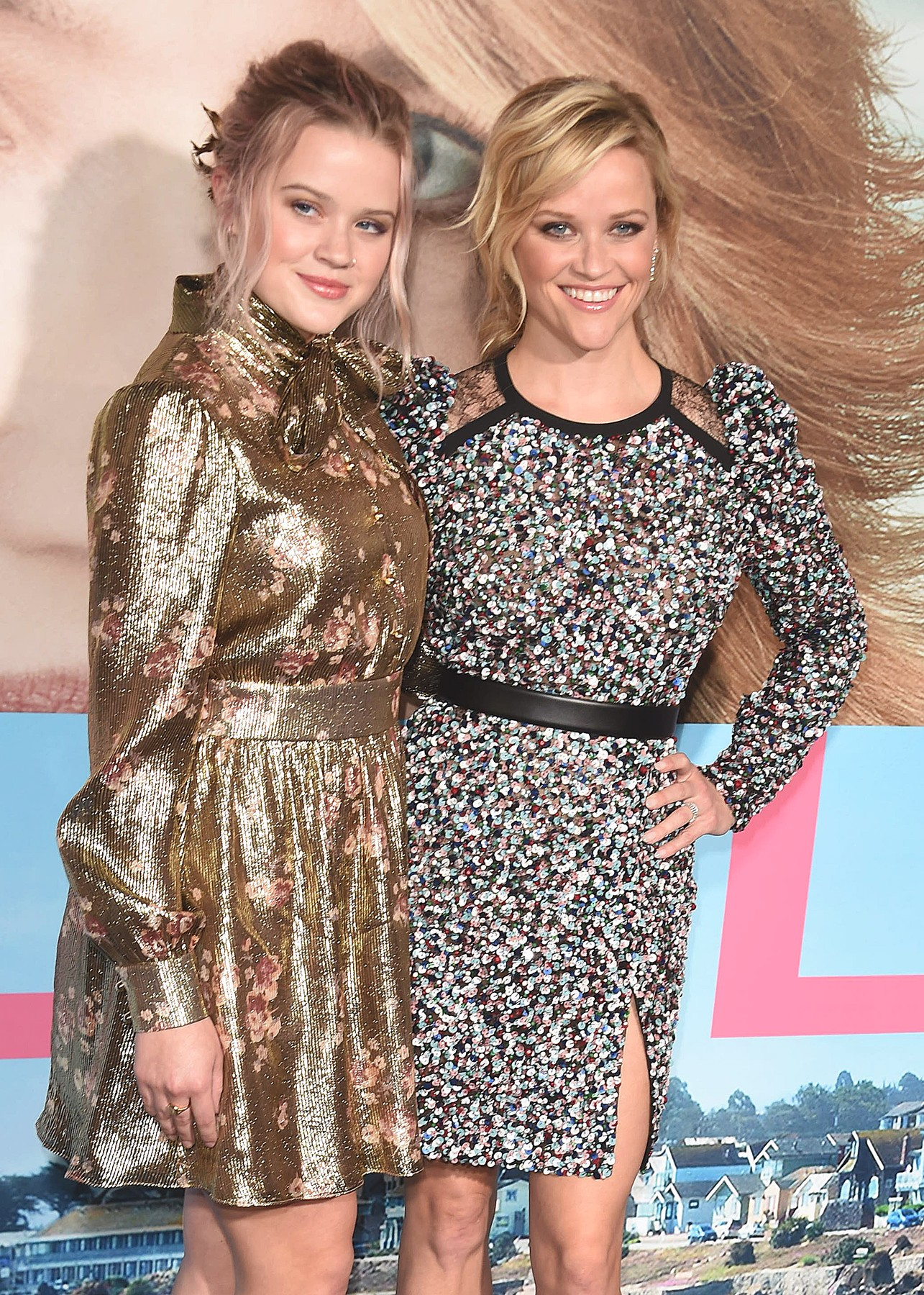 HOLLYWOOD, CA - FEBRUARY 7:  Ava Phillippe and Reese Witherspoon at the premiere Of HBO's