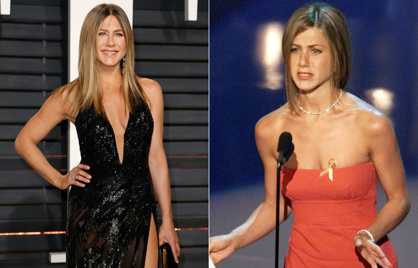 Jennifer Aniston 2017. i 2000.