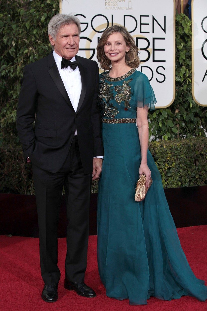 BEVERLY HILLS, CA - JANUARY 10: Harrison Ford and Calista Flockhart at The 73rd Golden Globe Awards at The Beverly Hilton in Beverly Hills, California on January 10, 2016., Image: 271085100, License: Rights-managed, Restrictions: , Model Release: no, Credit line: Profimedia, Face To Face A