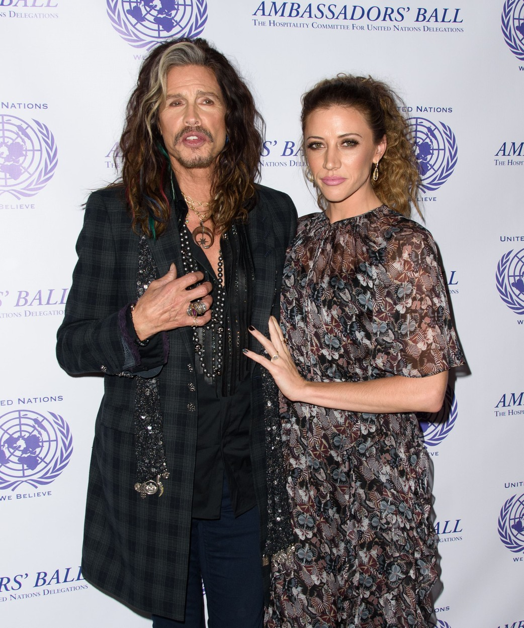 , New York, NY - 12/03/16 - Steven Tyler Honored at UN Ambassadors' Ball  -PICTURED: Steven Tyler and Aimee Ann Preston -, Image: 307539012, License: Rights-managed, Restrictions: , Model Release: no, Credit line: Profimedia, INSTAR Images