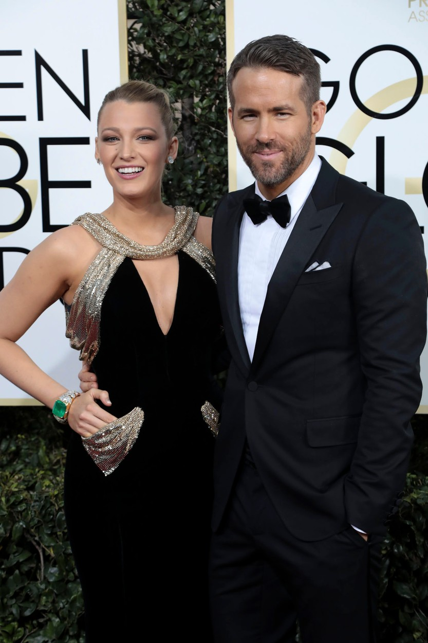 January 8, 2017 - Beverly Hills, California, U.S. - BLAKE LIVELY and RYAN REYNOLDS during red carpet arrivals for the 74th Annual Golden Globe Awards., Image: 310410852, License: Rights-managed, Restrictions: , Model Release: no, Credit line: Profimedia, Zuma Press - Entertaiment