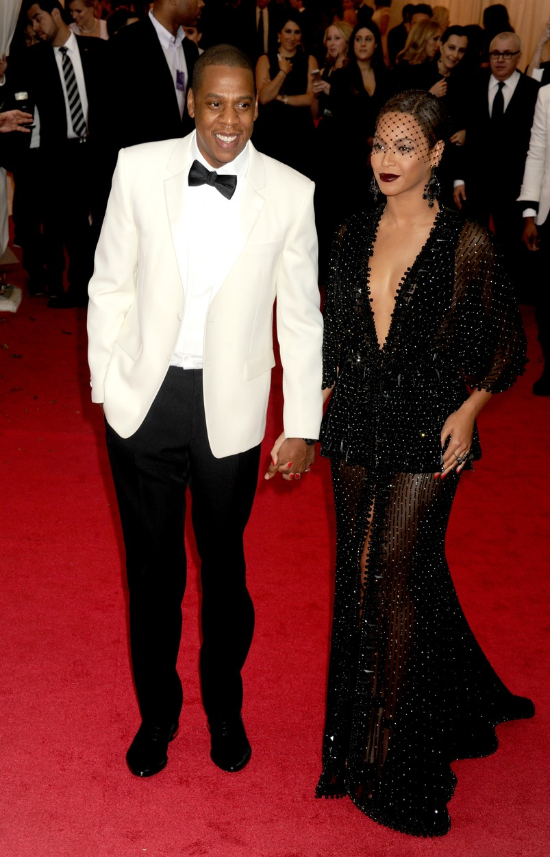 File photo : Jay Z and Beyonce Knowles attend the Metropolitan Museum of Art's Costume Institute Benefit celebrating the opening of