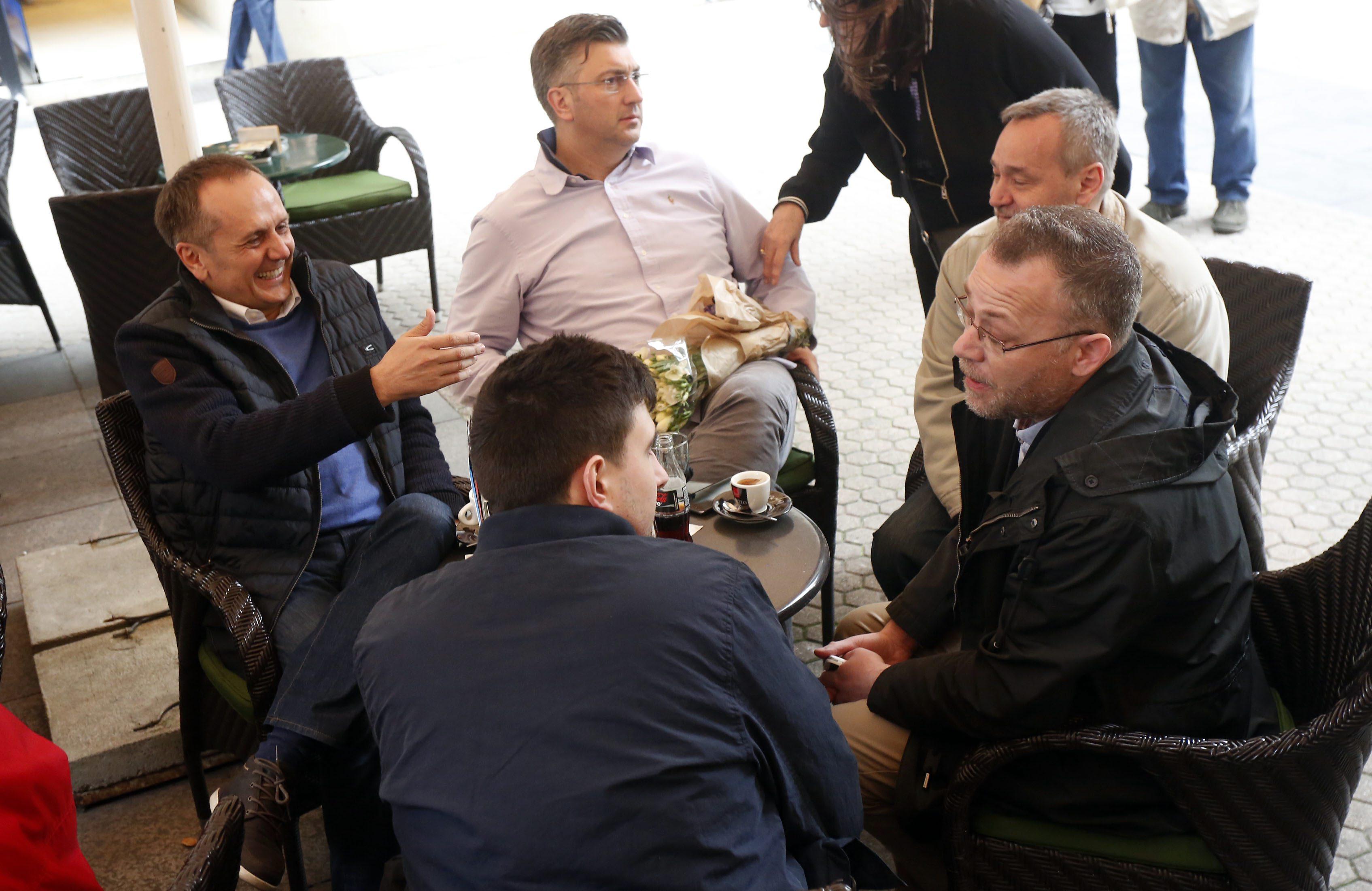 Drago Prgomet, Andrej Plenković, Zlatko Hasanbegović i Dinko Čutura
