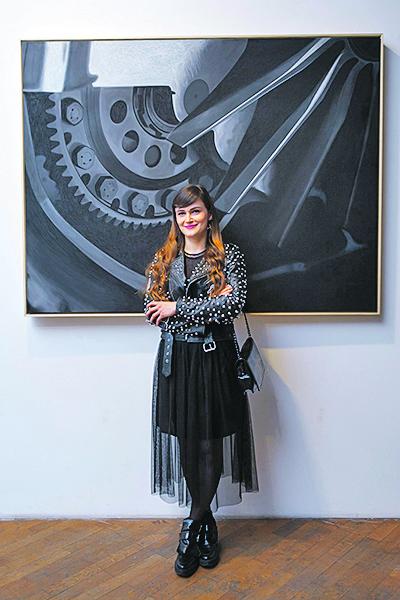 Zagreb, 160317. U Hrvatsom drustvu likovnih umjetnika paralelno su otvorene izlozbe Radovana Kunica, Igora Taritasa, Maje Rozman i Ive Habus. Na fotografiji: Iva Habus. Foto: Tomislav Kristo / CROPIX